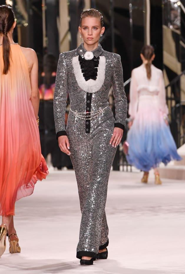 image 1 - Jumpsuit - Glittered Tweed - Silver, Black & Gold