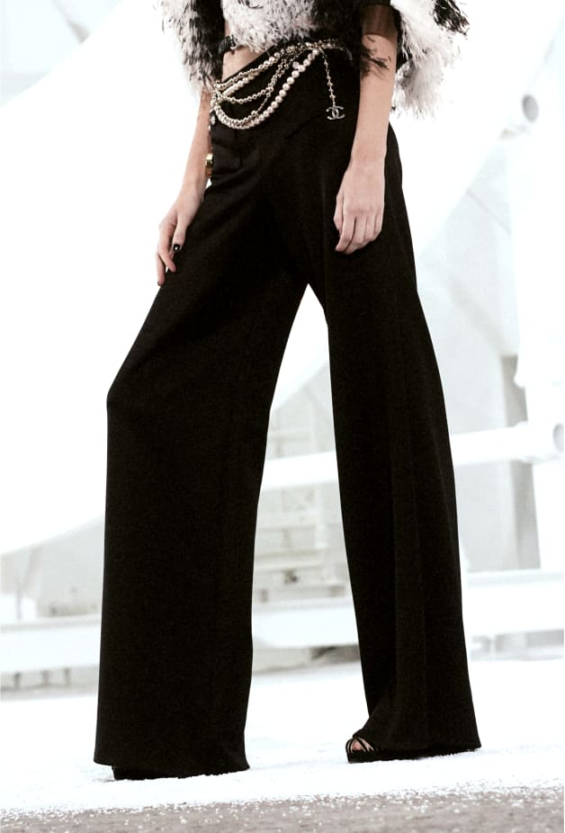 image 2 - Pants - Silk - Black