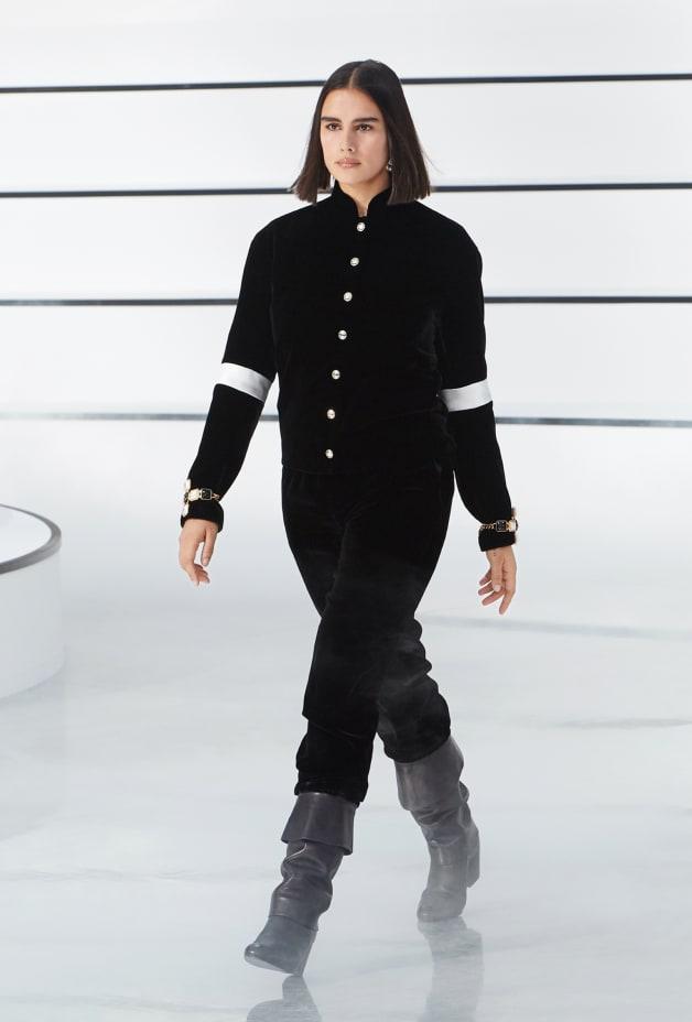 image 1 - Pantalon - Velours - Noir