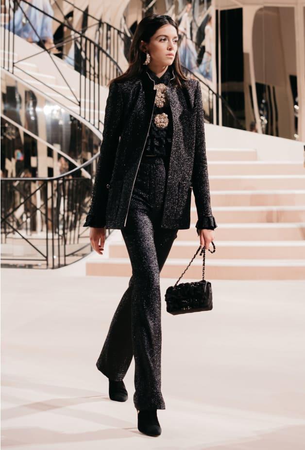 image 1 - Pants - Wool, Silk & Metallic Fibers - Black