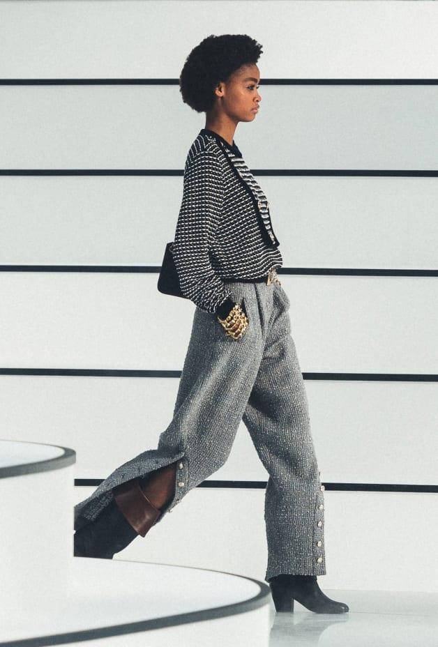image 1 - Pants - Wool Tweed - Gray