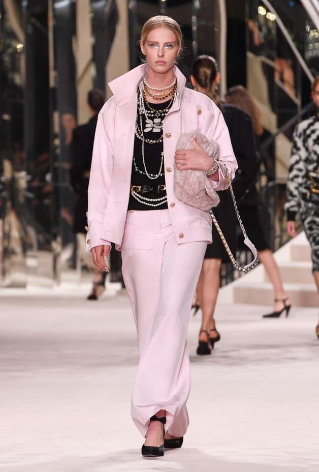 image 1 - Pantalon - Coton & soie - Rose pâle