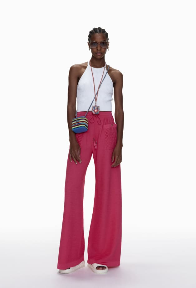 image 1 - Trousers - Mixed Fibres - Pink