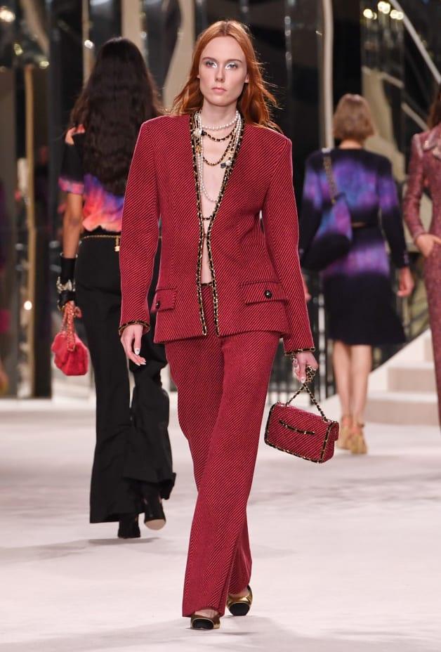 image 1 - Pants - Wool & Cashmere Tweed - Red & Black