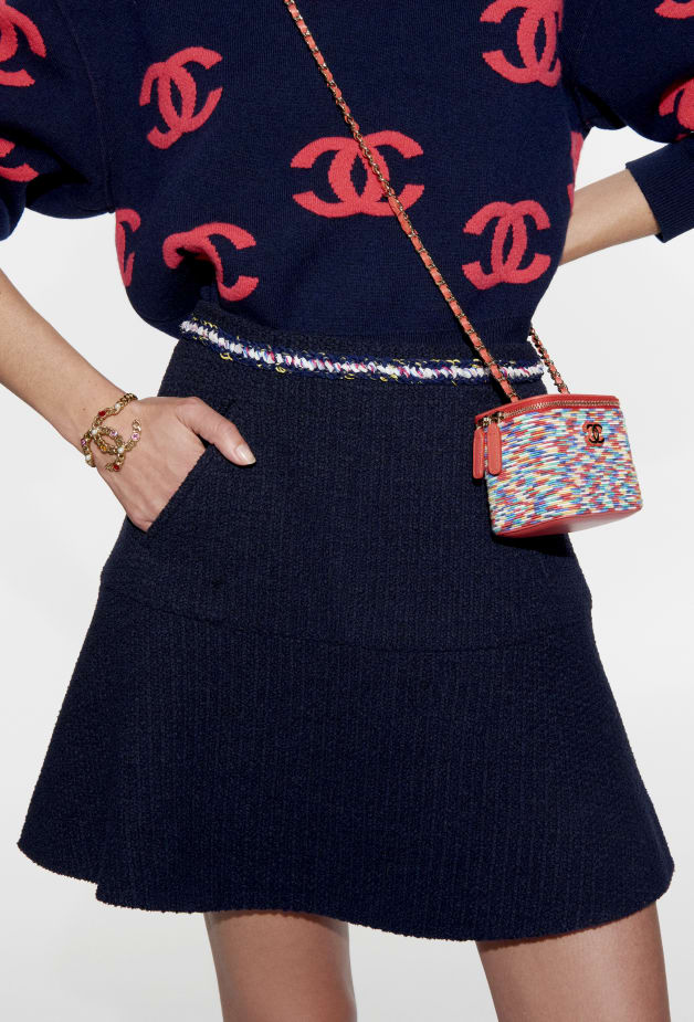 image 2 - Pullover - Cashmere - Navy Blue & Pink