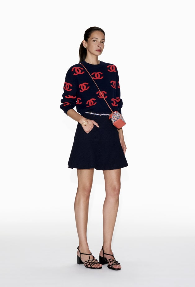 image 1 - Pullover - Cashmere - Navy Blue & Pink