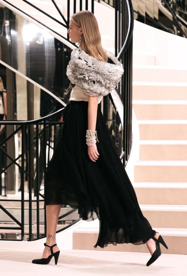 image 2 - Skirt - Georgette Crepe - Black