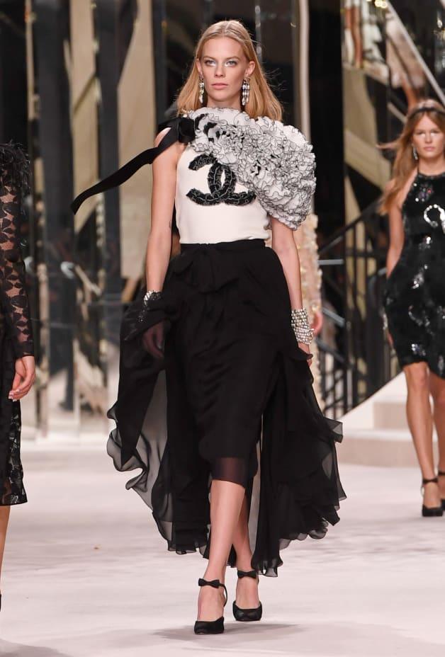 image 1 - Skirt - Georgette Crepe - Black