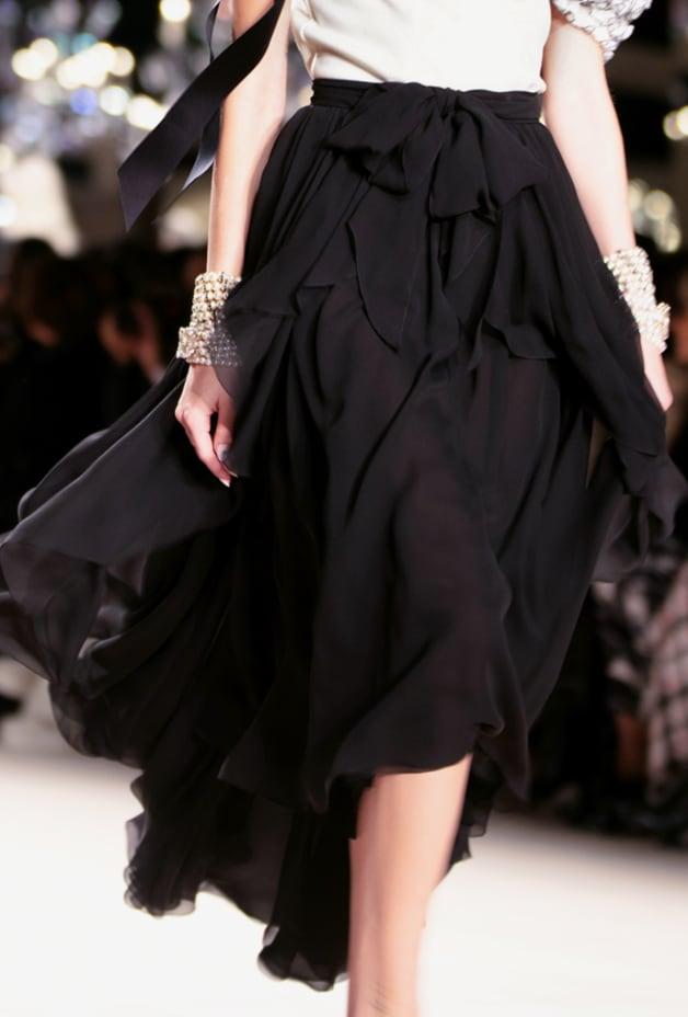 image 3 - Skirt - Georgette Crepe - Black