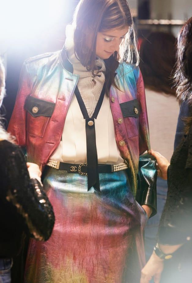 image 3 - Skirt - Lambskin - Black, Pink, Blue & Gold