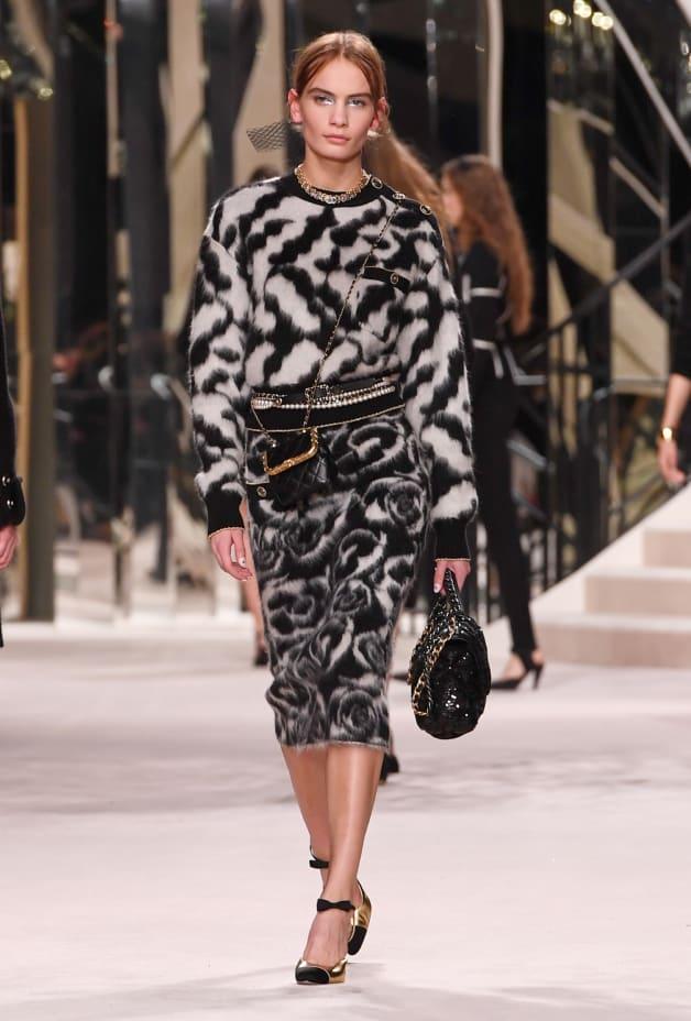image 1 - Skirt - Alpaca & Mixed Fibres - Black & White