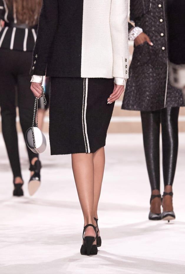 image 2 - Jupe - Tweed de laine - Noir