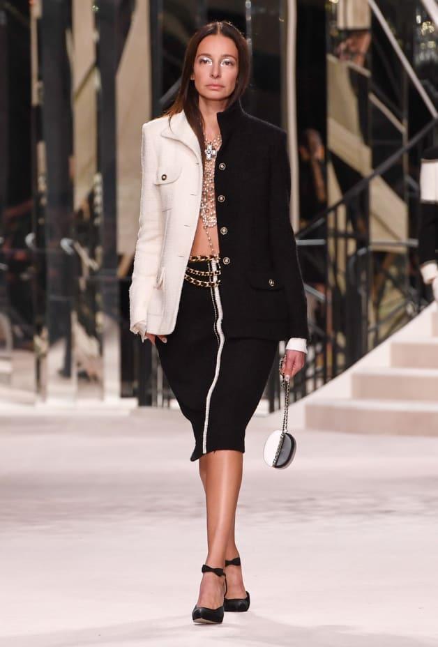 image 1 - Skirt - Wool Tweed - Black