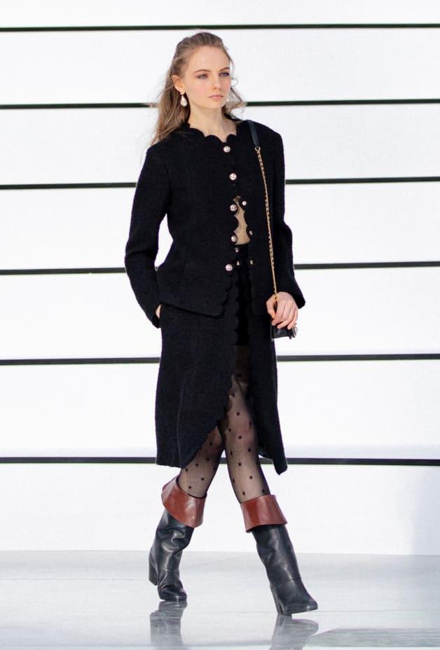 image 1 - スカート - ウール ツイード - ブラック