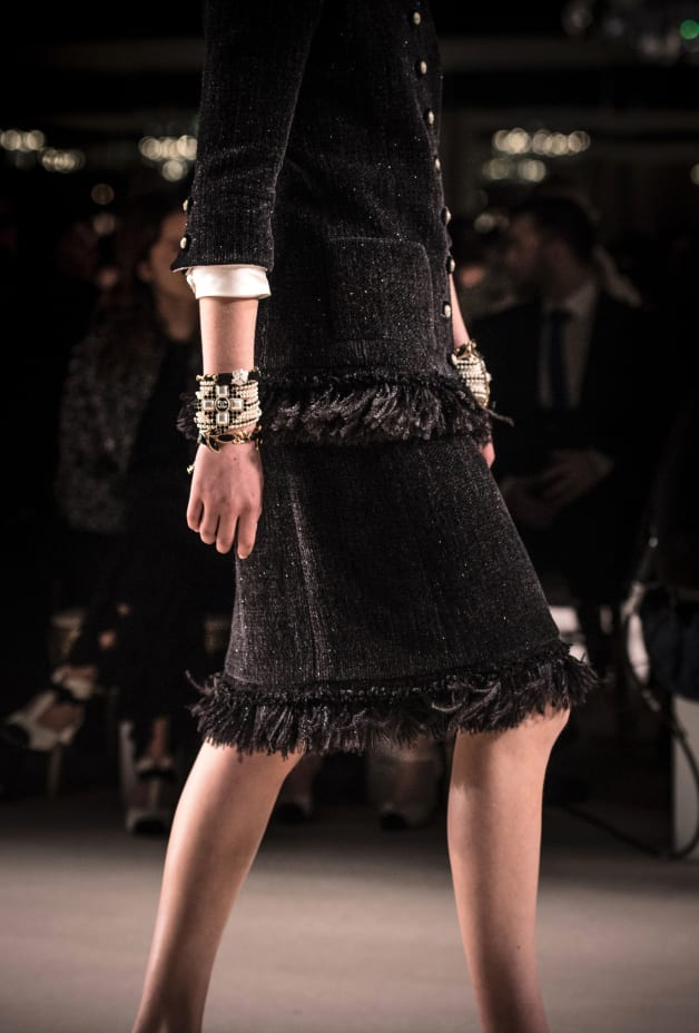 image 3 - Skirt - Wool Tweed - Black