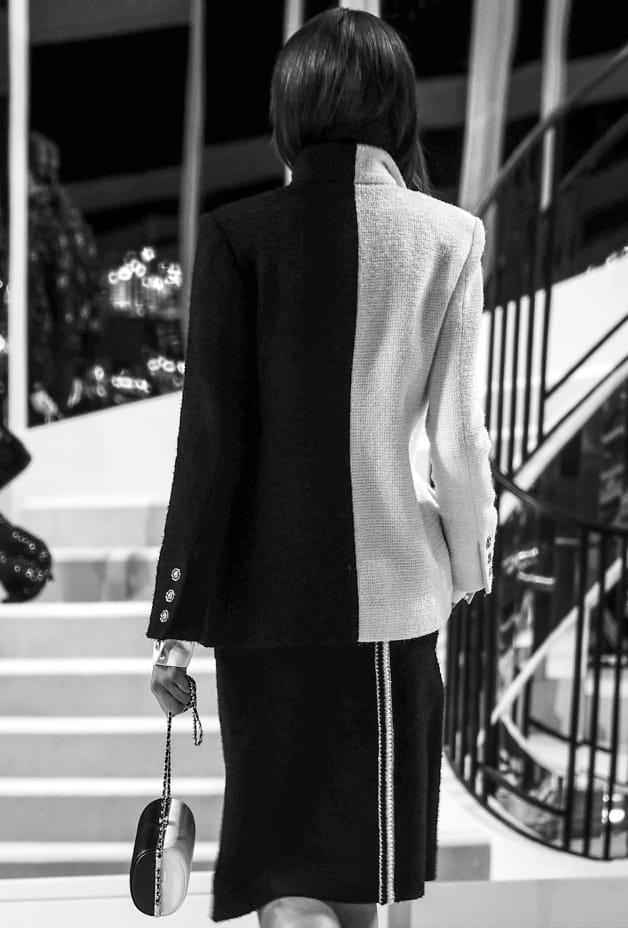 image 3 - Jupe - Tweed de laine - Noir