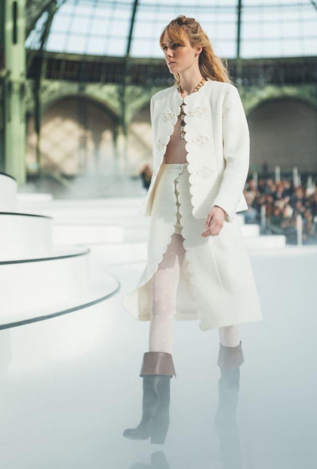 image 1 - Skirt - Tweed - Ecru