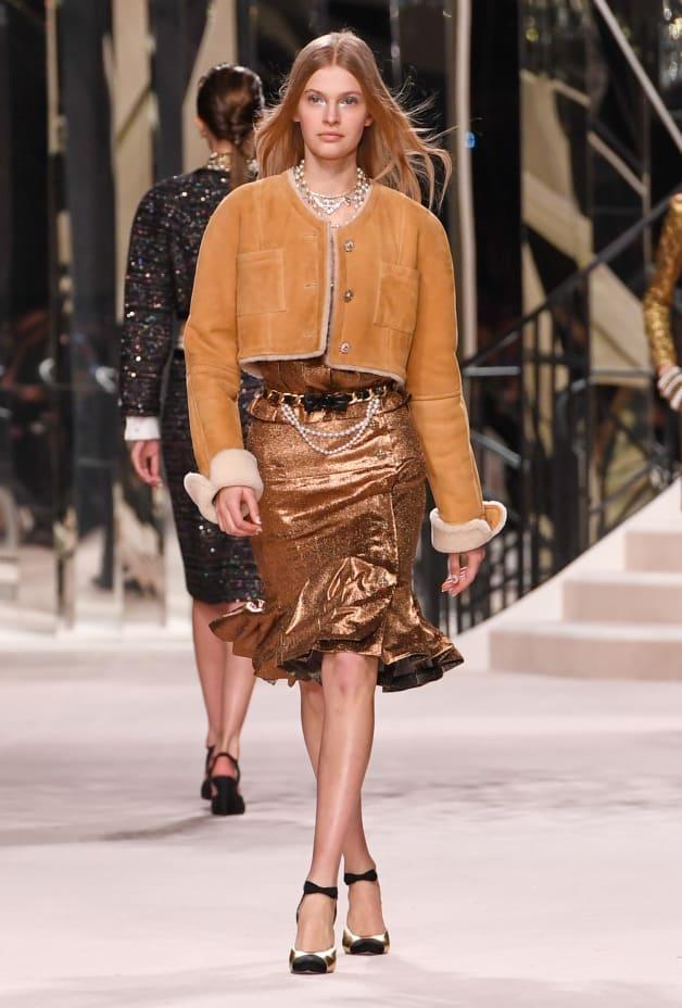image 1 - Skirt - Silk & Mixed Fibers - Gold