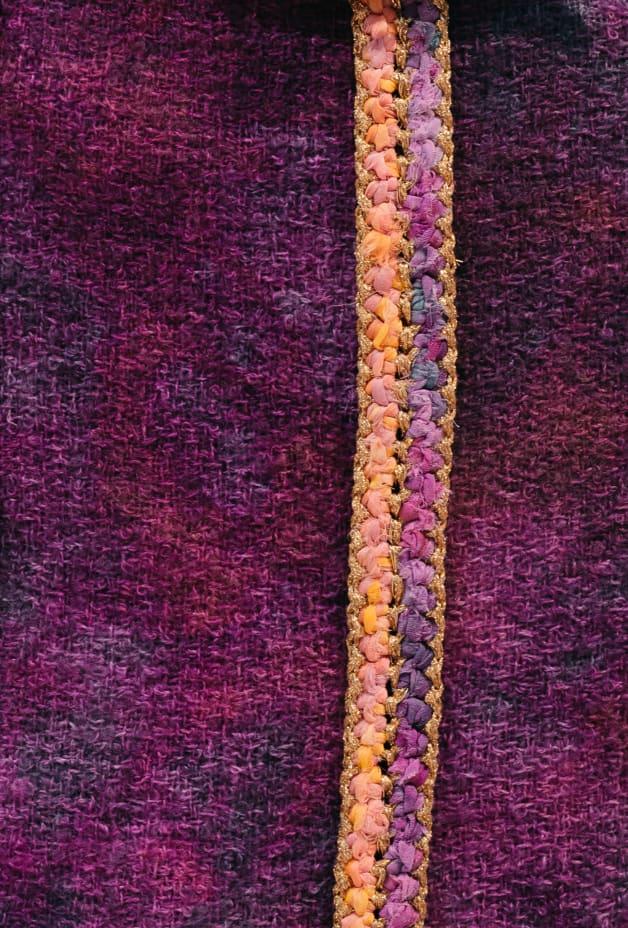 image 3 - Skirt - Wool Tweed - Purple & Pink