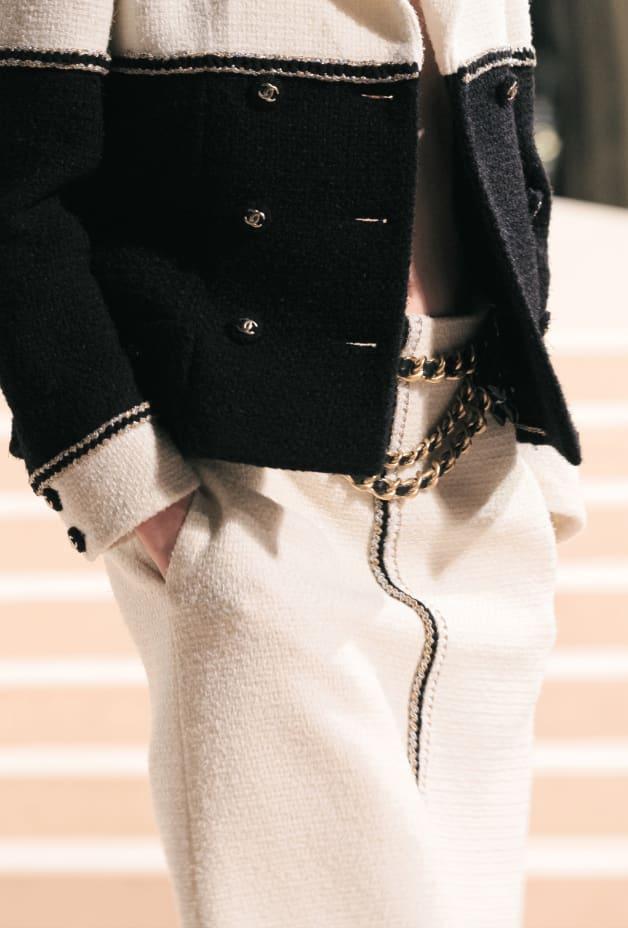 image 3 - Jupe - Tweed de laine - Blanc