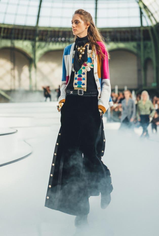 image 1 - Top - Cashmere - Black & Multicolor