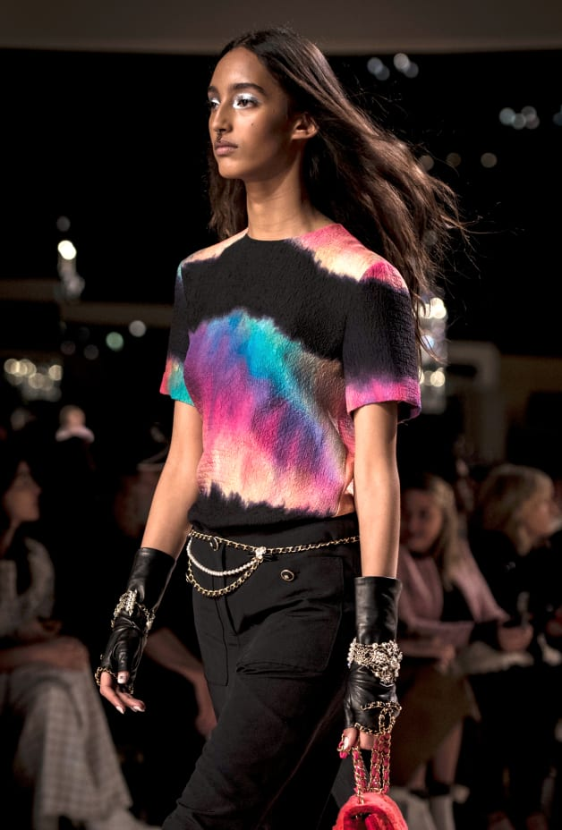 image 2 - Top - Silk - Black & Multicolor