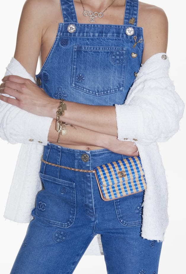 image 3 - Top - Embroidered Washed Denim - Azul