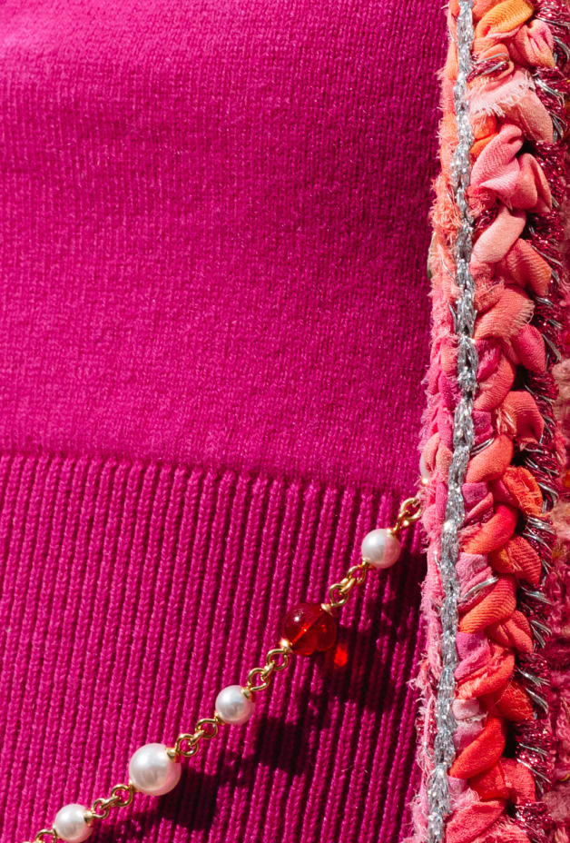 image 3 - Top - Cashmere - Fuchsia & Purple