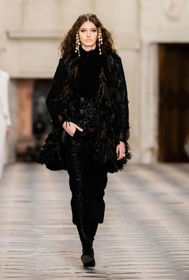 image 1 - Vest - Embroidered Lace & Lambskin - Black & Brown