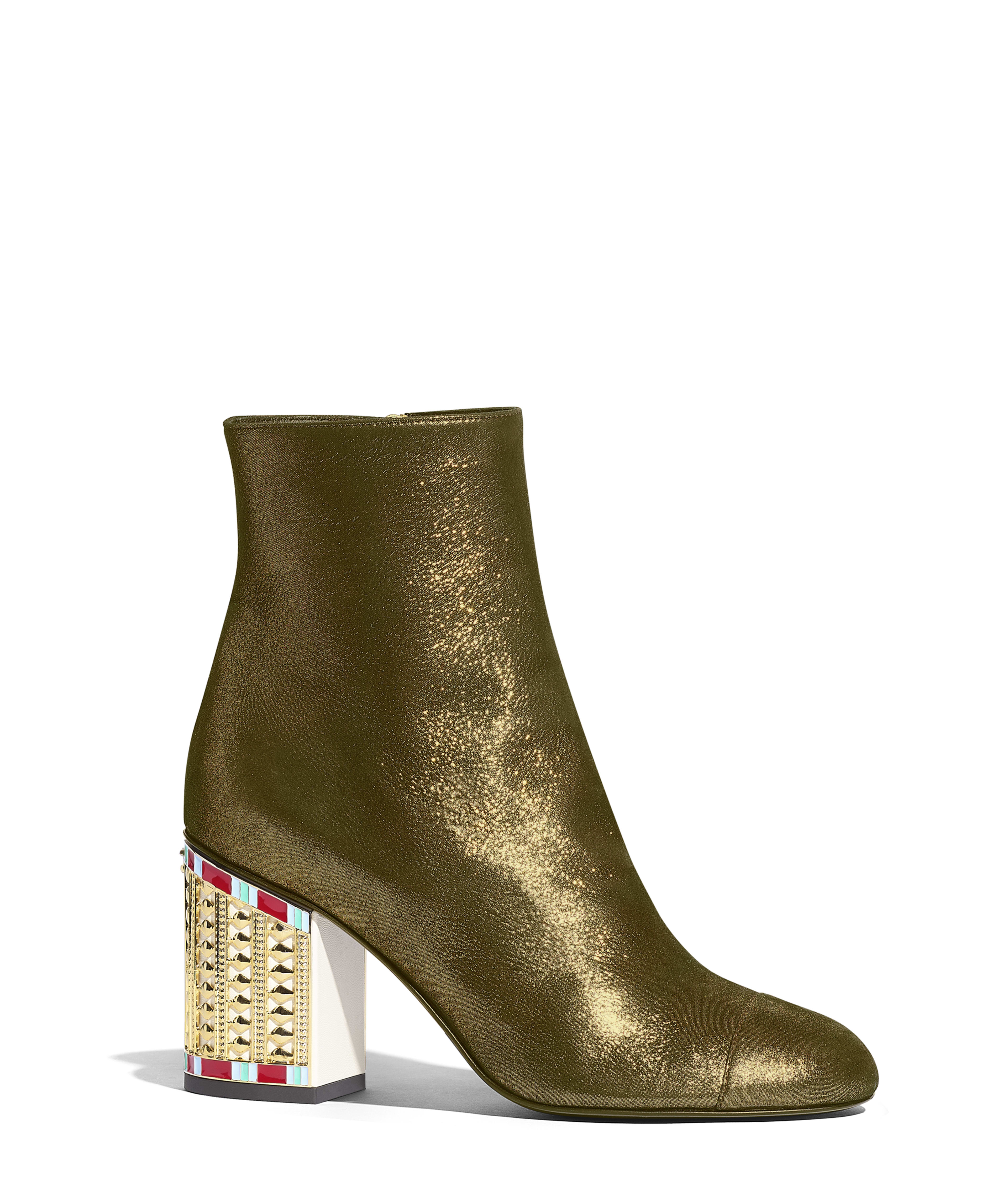 8e51eb148 Ankle Boots Laminated Lambskin, Gold & Black Ref. G34917X53073C0369