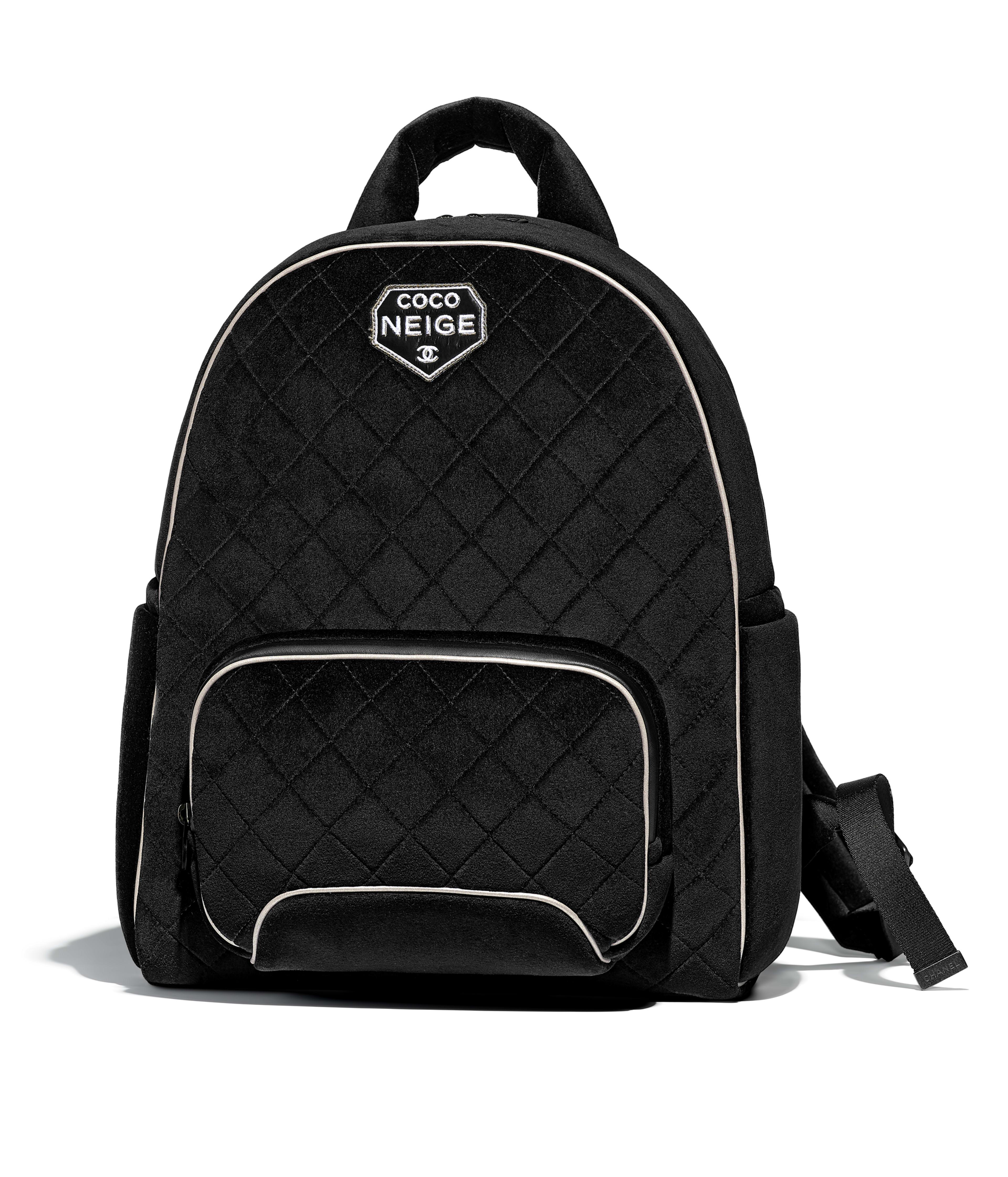 Backpack Velvet Silver Tone Metal Black Ref A57594y8387494305