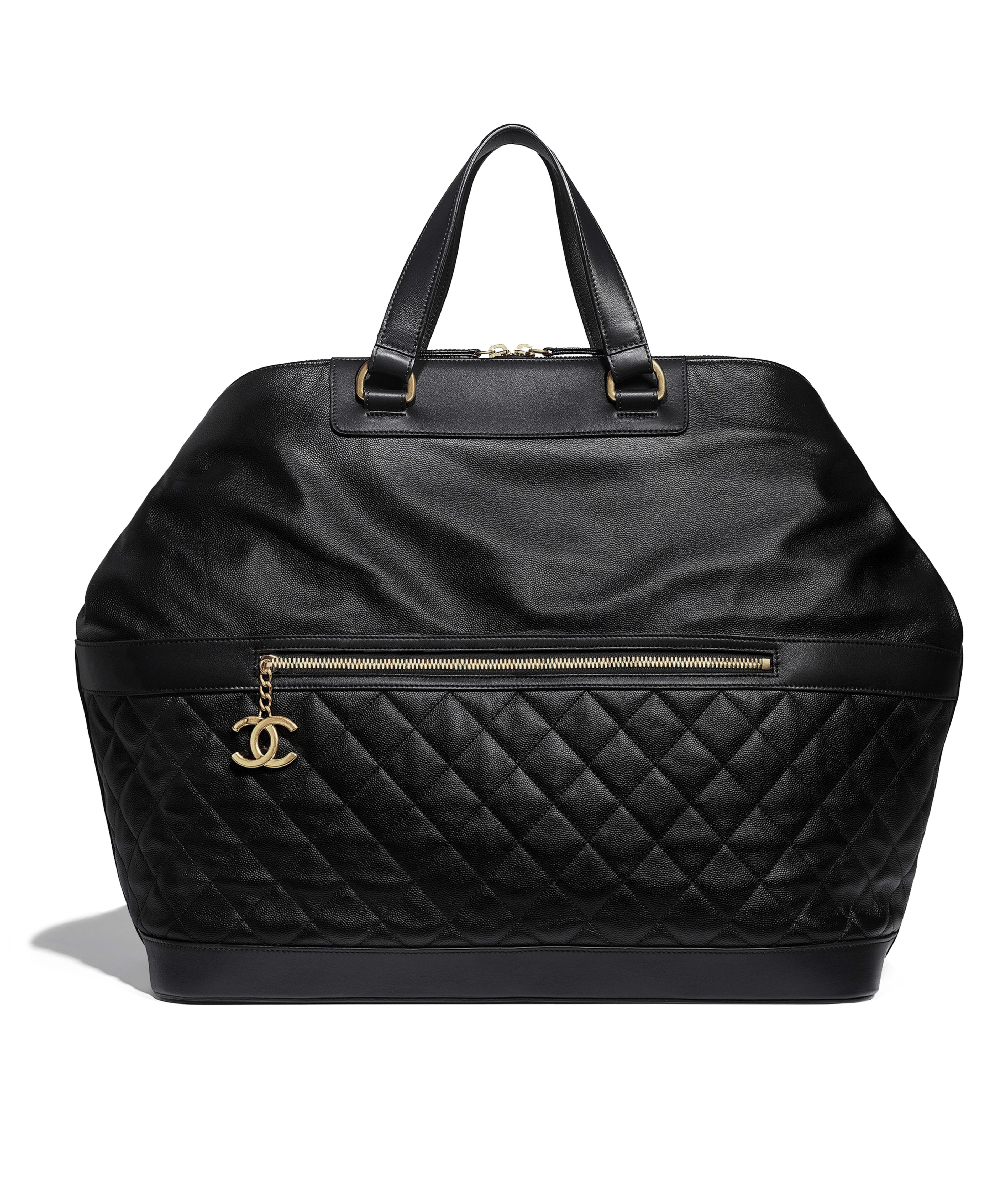 Bowling Bag Grained Calfskin Gold Tone Metal Black Ref A57969y8397894305