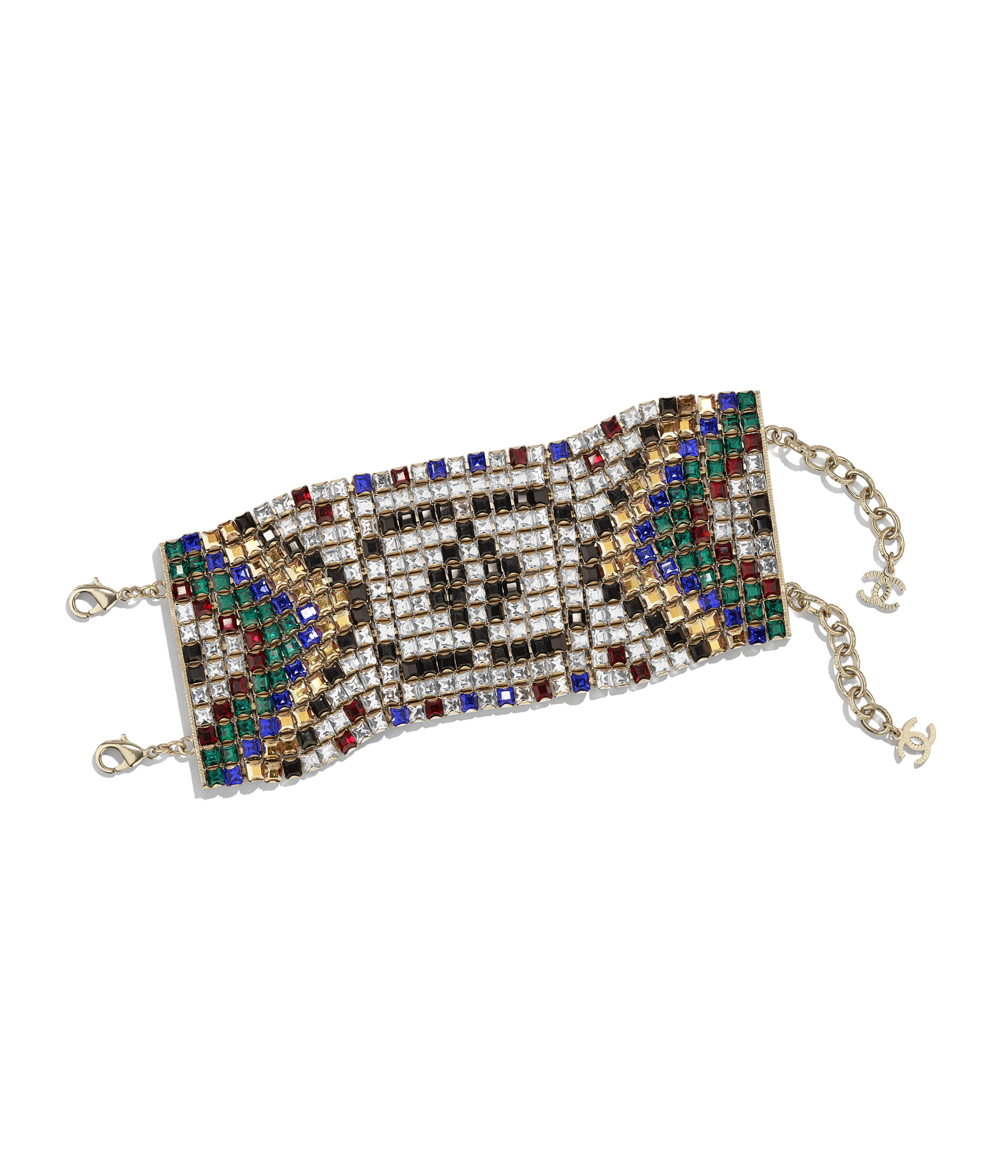 5ee760e45 Bracelet Metal & Strass, Gold, Black, Red, Blue & Crystal Ref.  AB1637Y02003Z9145