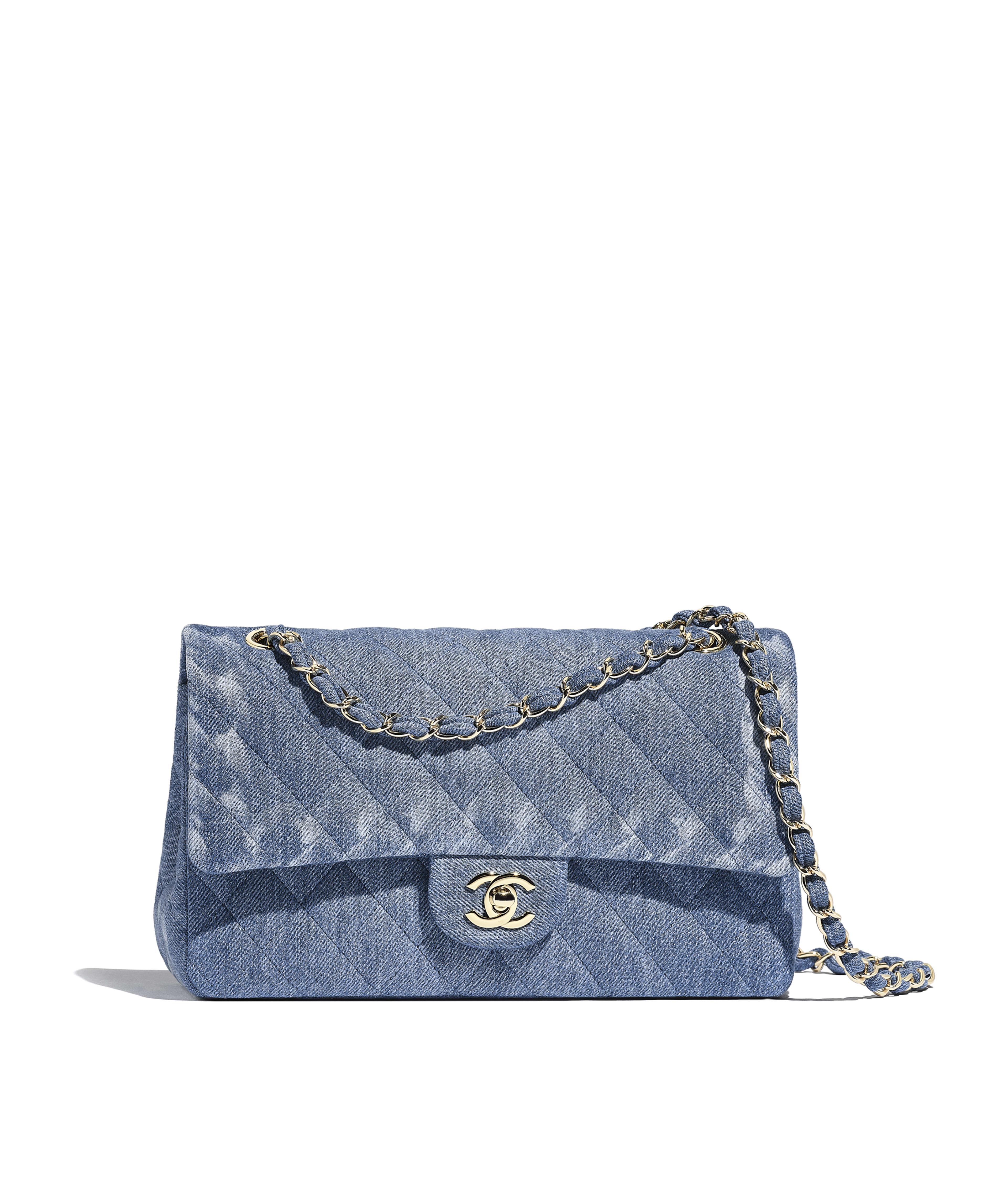 22847a56b98c4 Classic Handbag Denim   Gold-Tone Metal