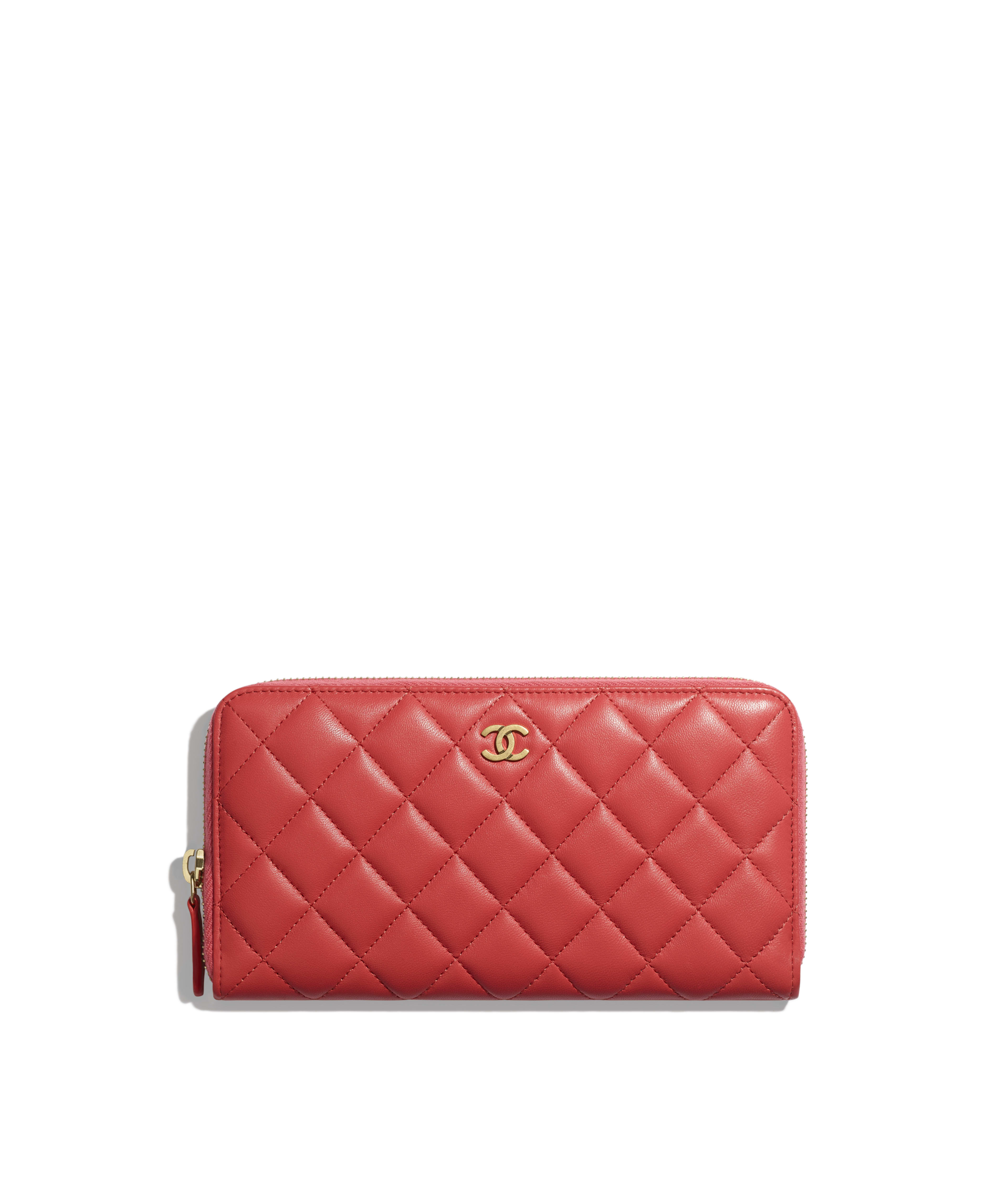 021cf37e98c6 Classic Long Zipped Wallet Lambskin & Gold-Tone Metal, Red Ref.  A50097Y07659N0896