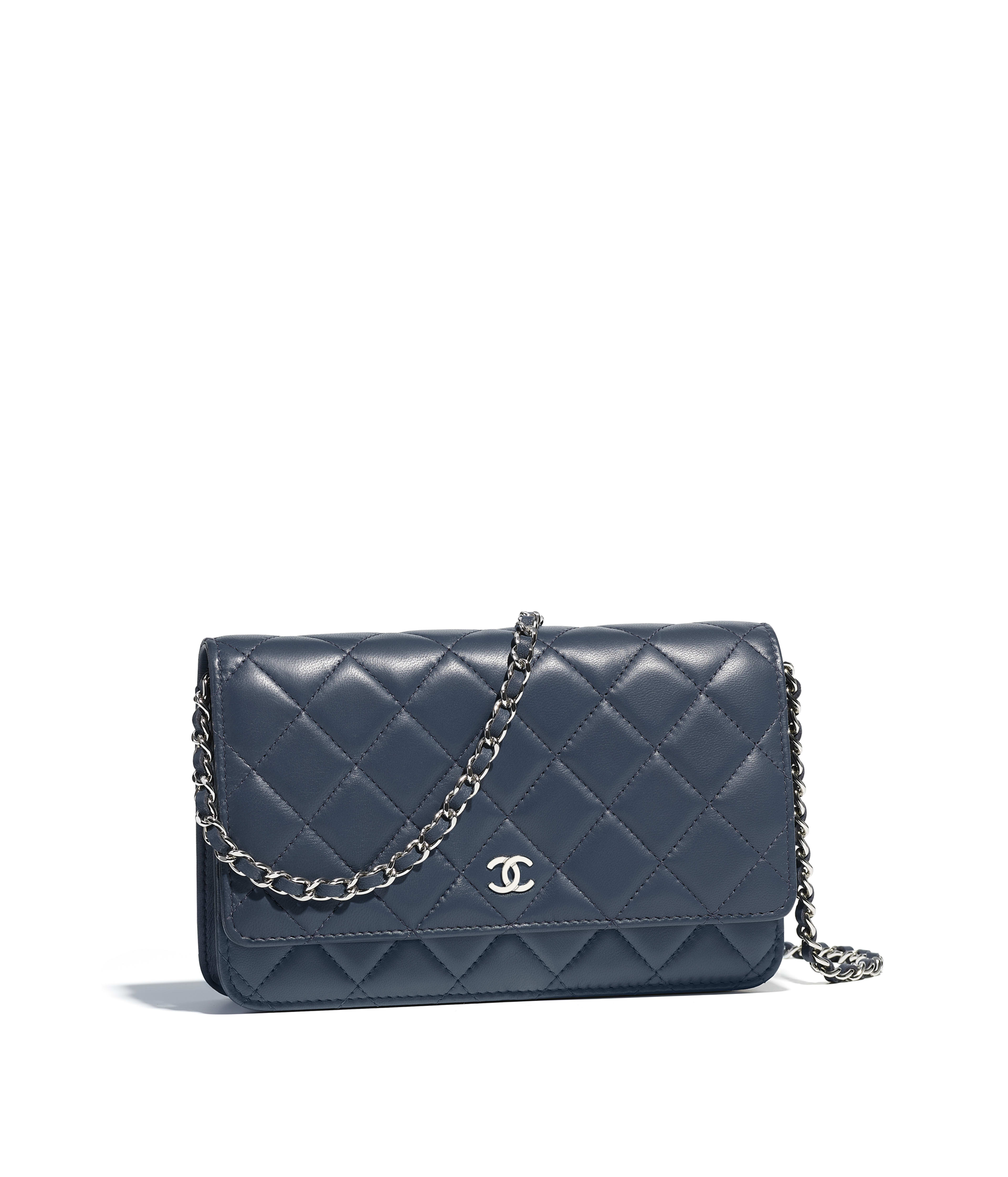 6fbe86b21acb Chanel Classic Wallet On Chain Grained Lambskin | Stanford Center ...