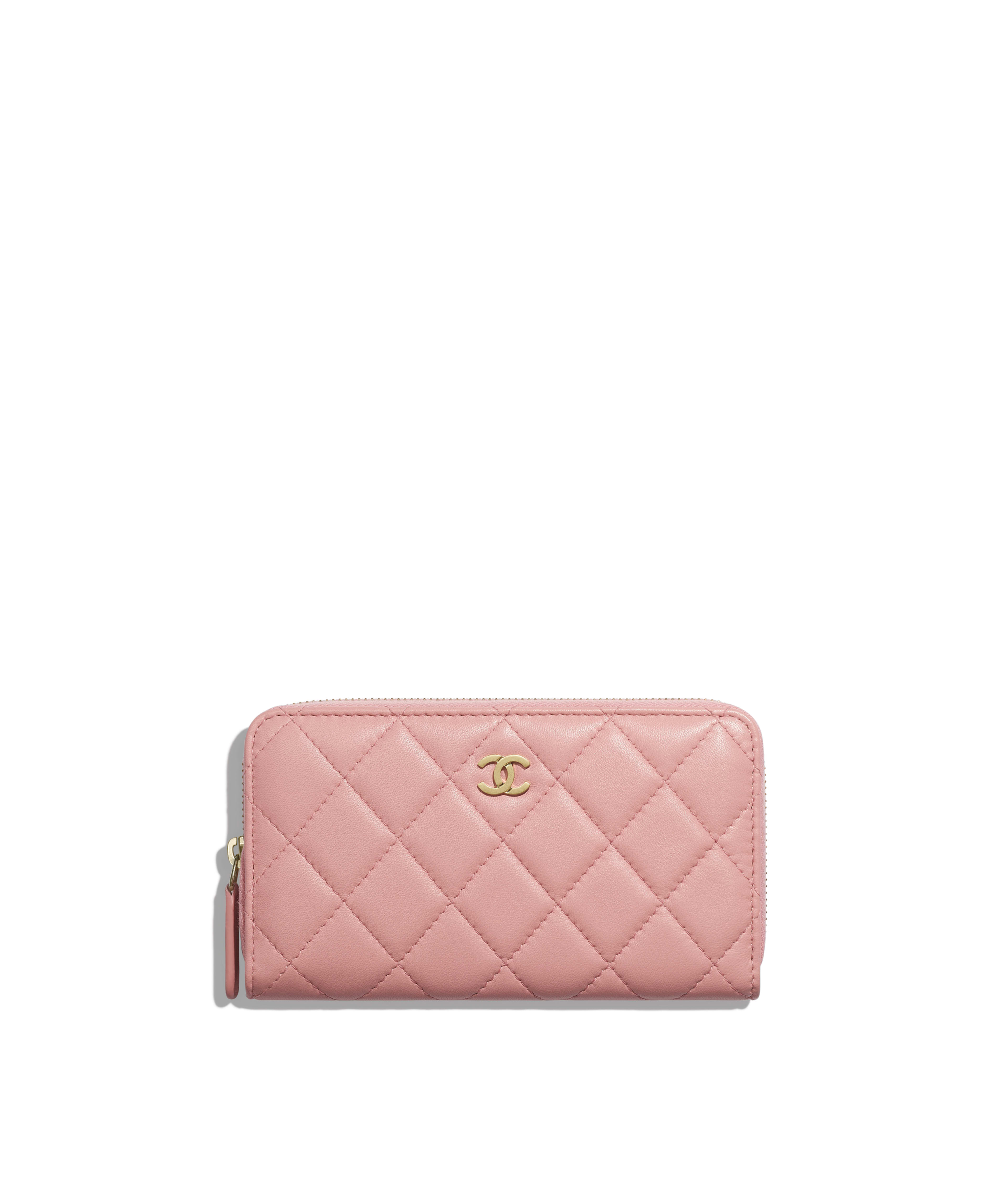 4c1a6ffb5a03a3 Classic Zipped Wallet Lambskin & Gold-Tone Metal, Pink Ref.  A80481Y07659N0897