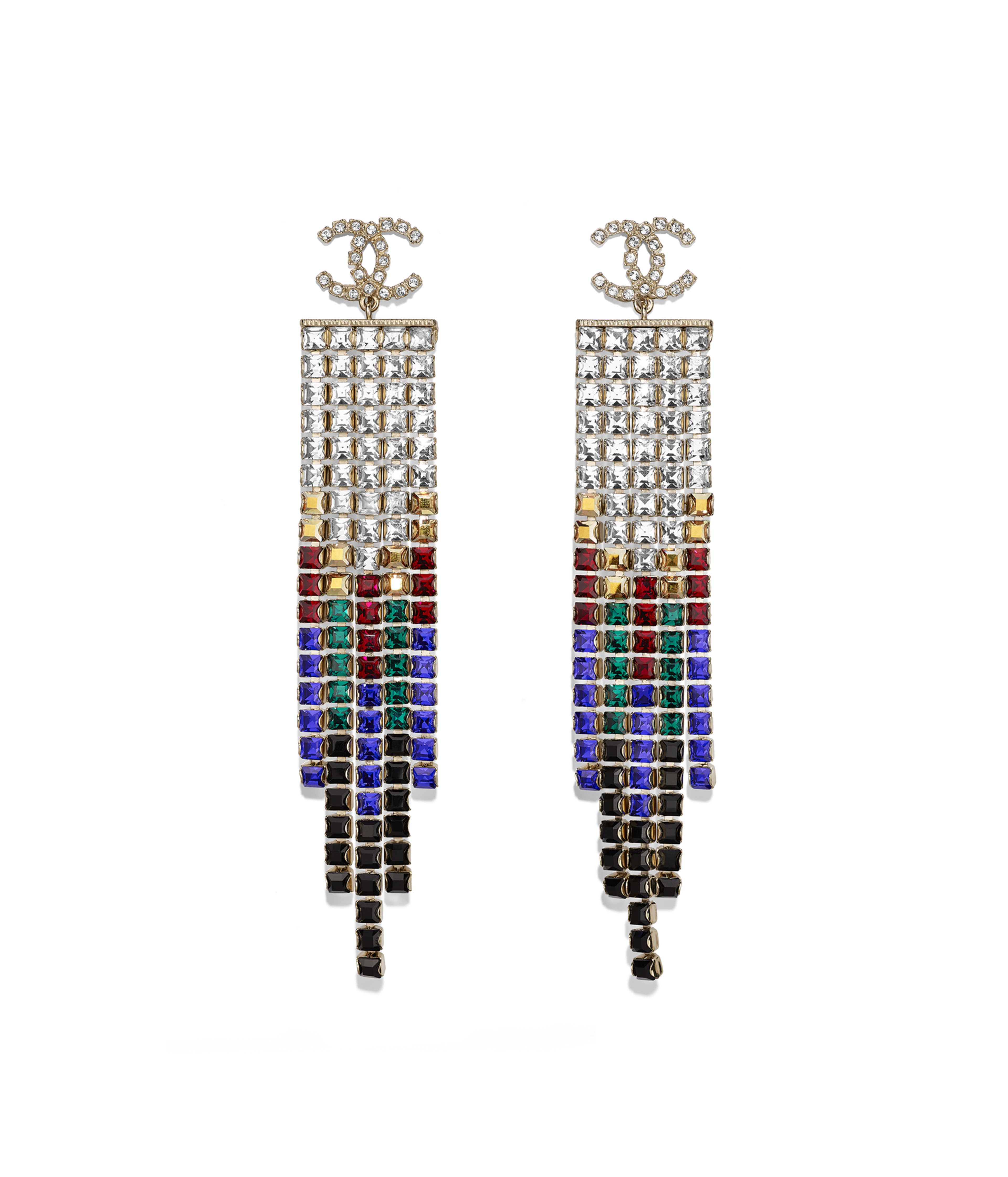 355e8c852 Clip-on Earrings Metal & Strass, Gold, Black, Red, Blue & Crystal Ref.  AB1641Y02003Z9145