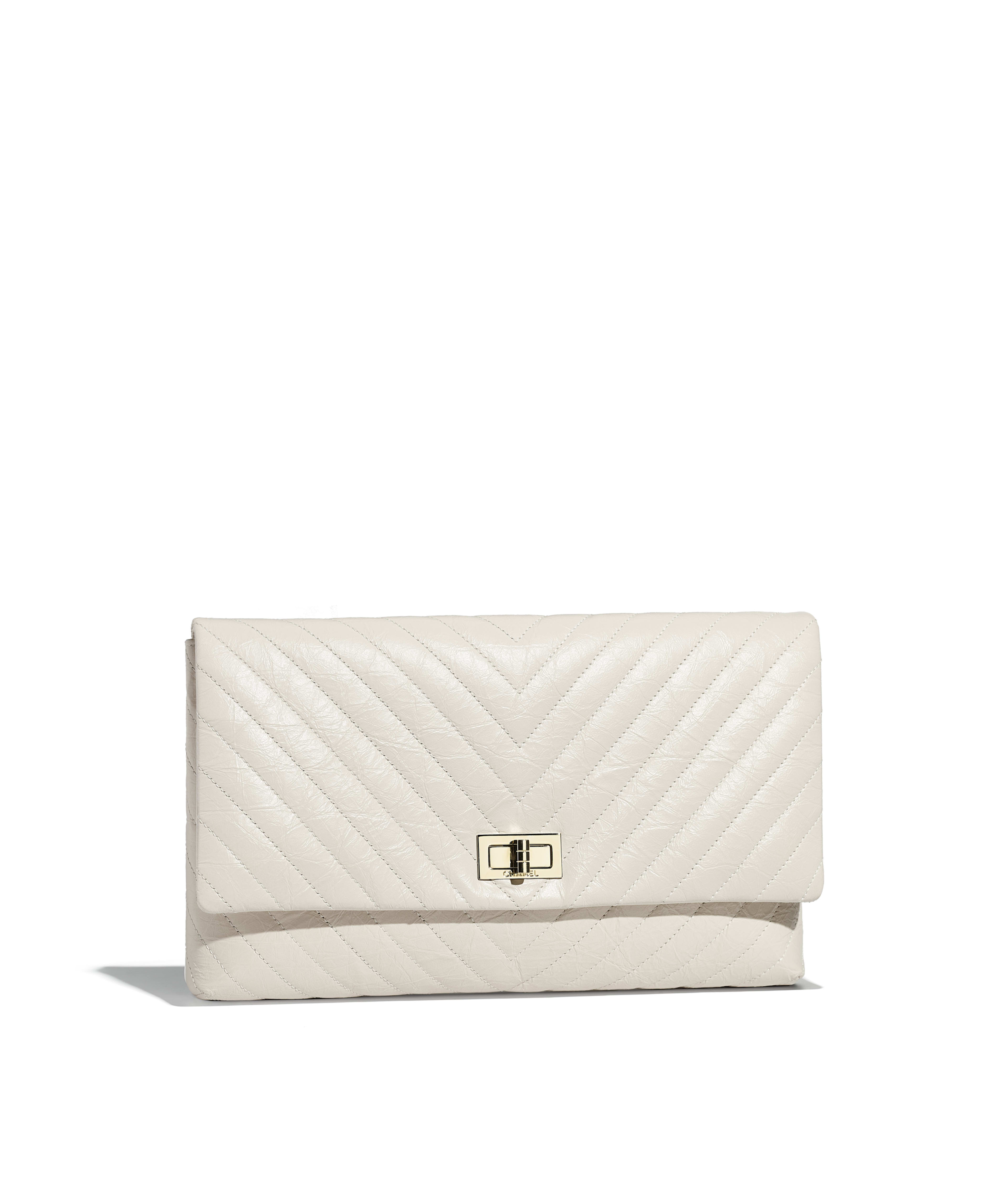 21d51414decd Metallic Etched Calfskin Gold Tone Metal Green Large 2 55 Handbag. Chanel  Small White Caviar Leather Double Flap Bag
