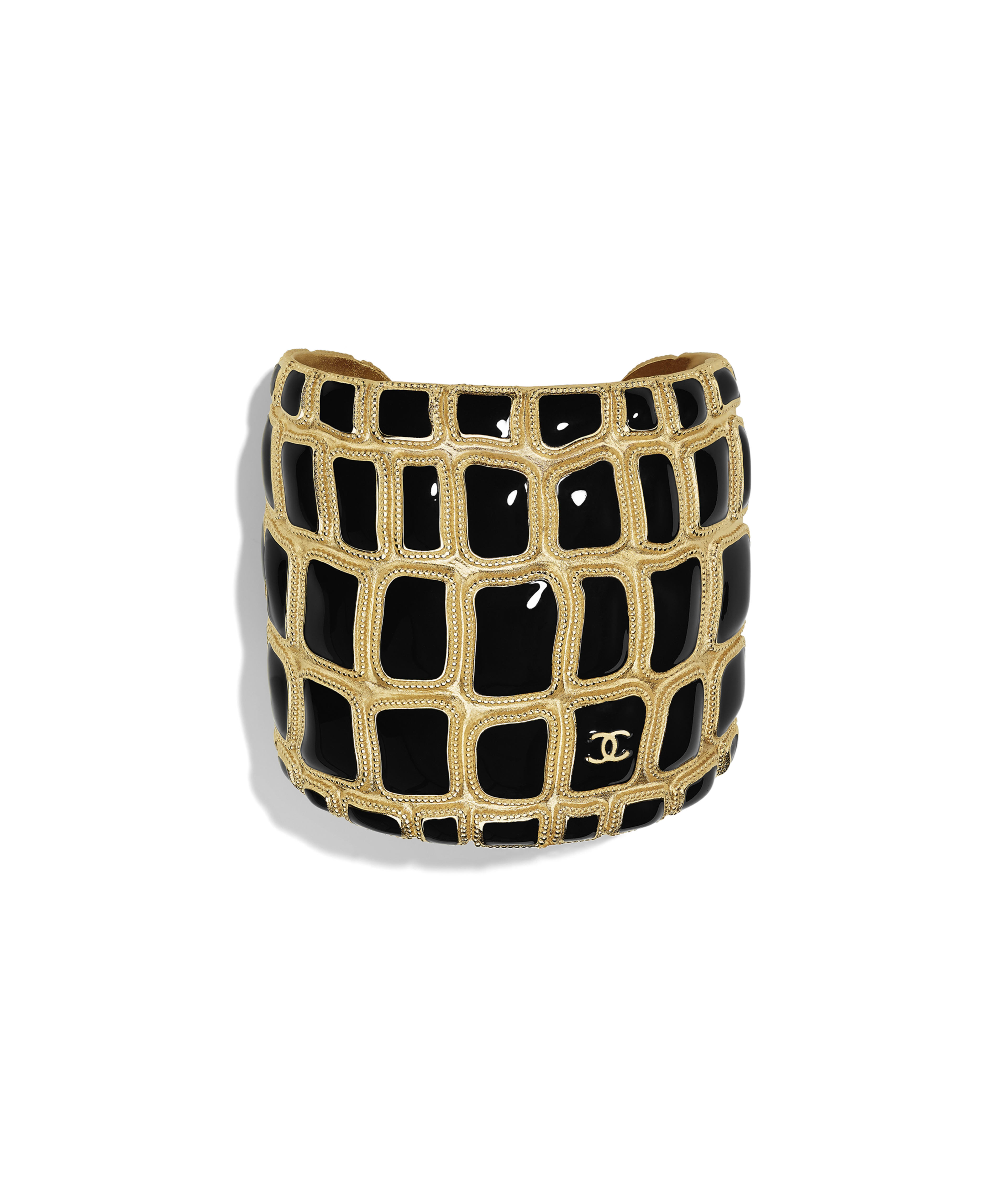 ca3799217 Cuff Metal & Resin, Gold & Black Ref. AB1475Y02018Z9017