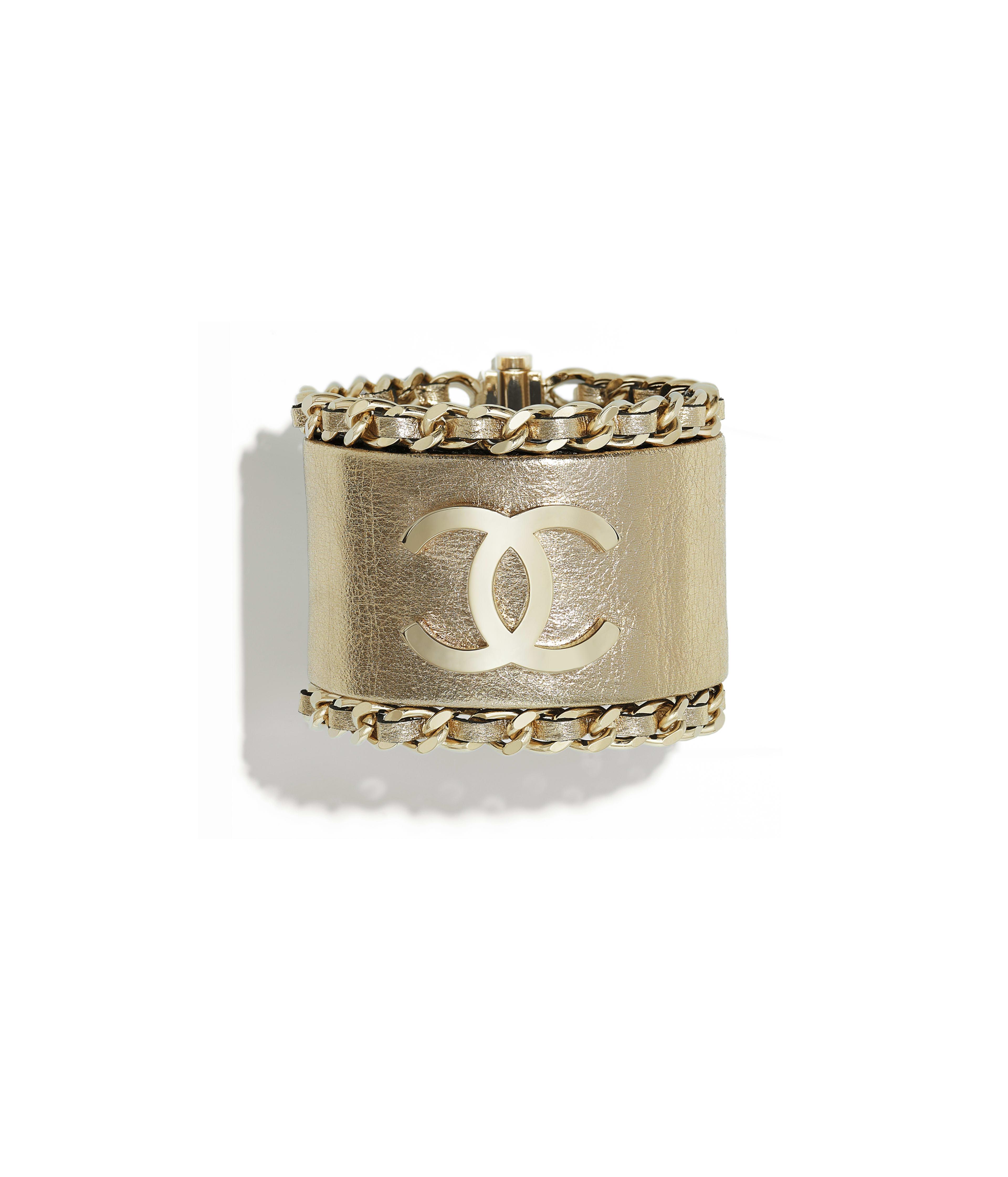 Cuff Metal Calfskin Gold Ref A53191y47058z6015