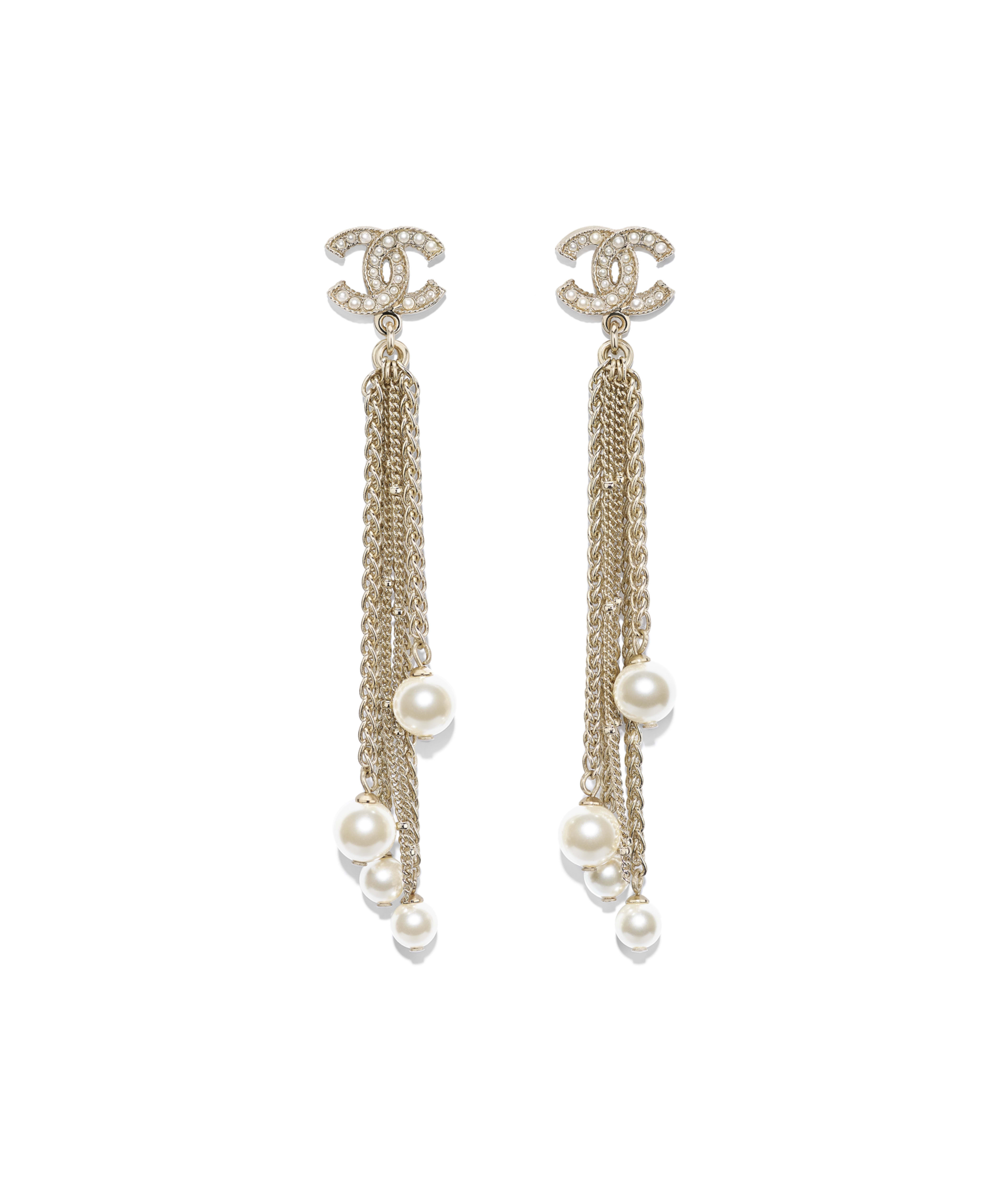 Earrings Metal Gl Pearls Resin Gold Pearly White Ref Ab0672y47466z2048