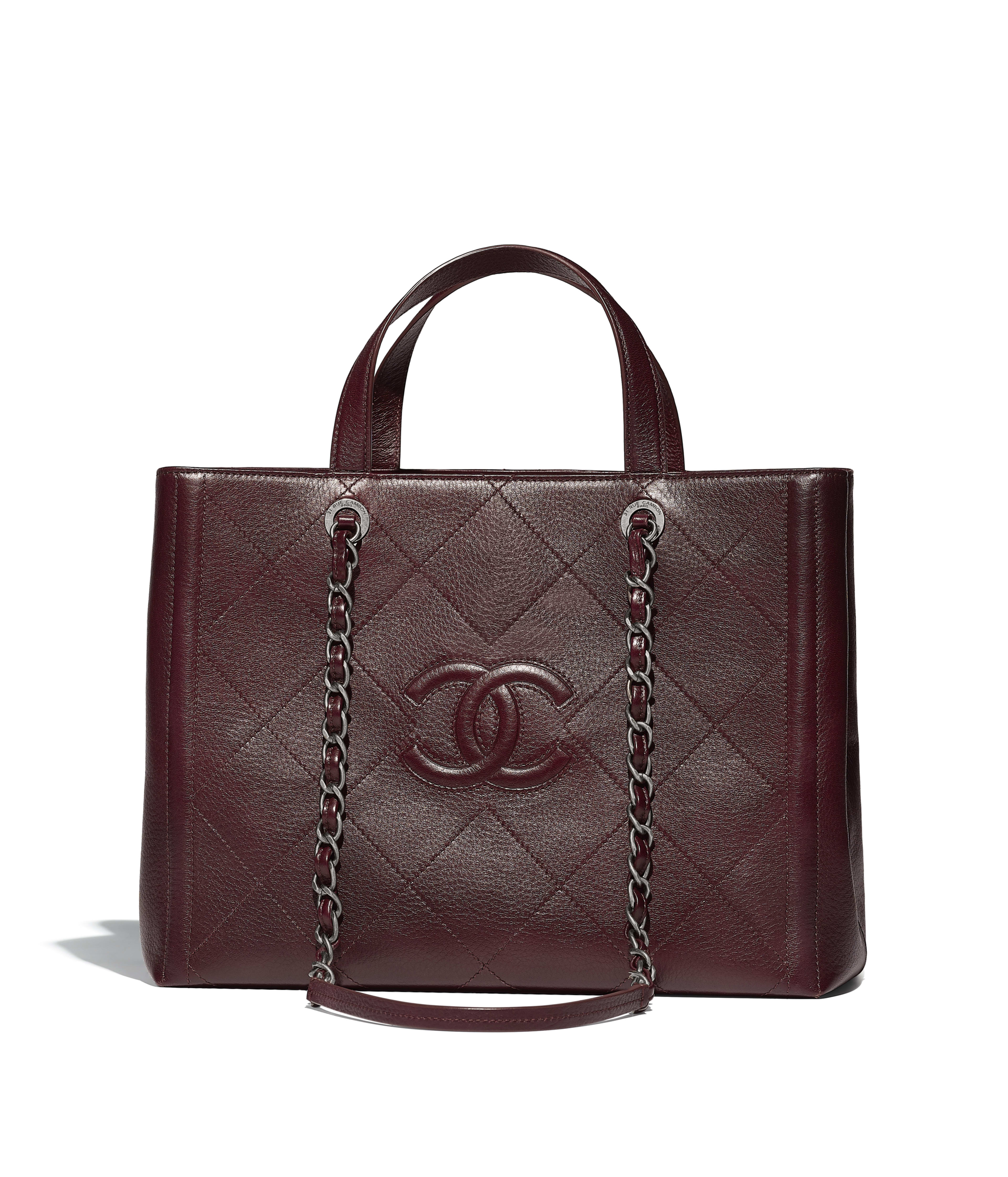 Large Ping Bag Grained Deerskin Ruthenium Finish Metal Burgundy Ref A57890y838585b425