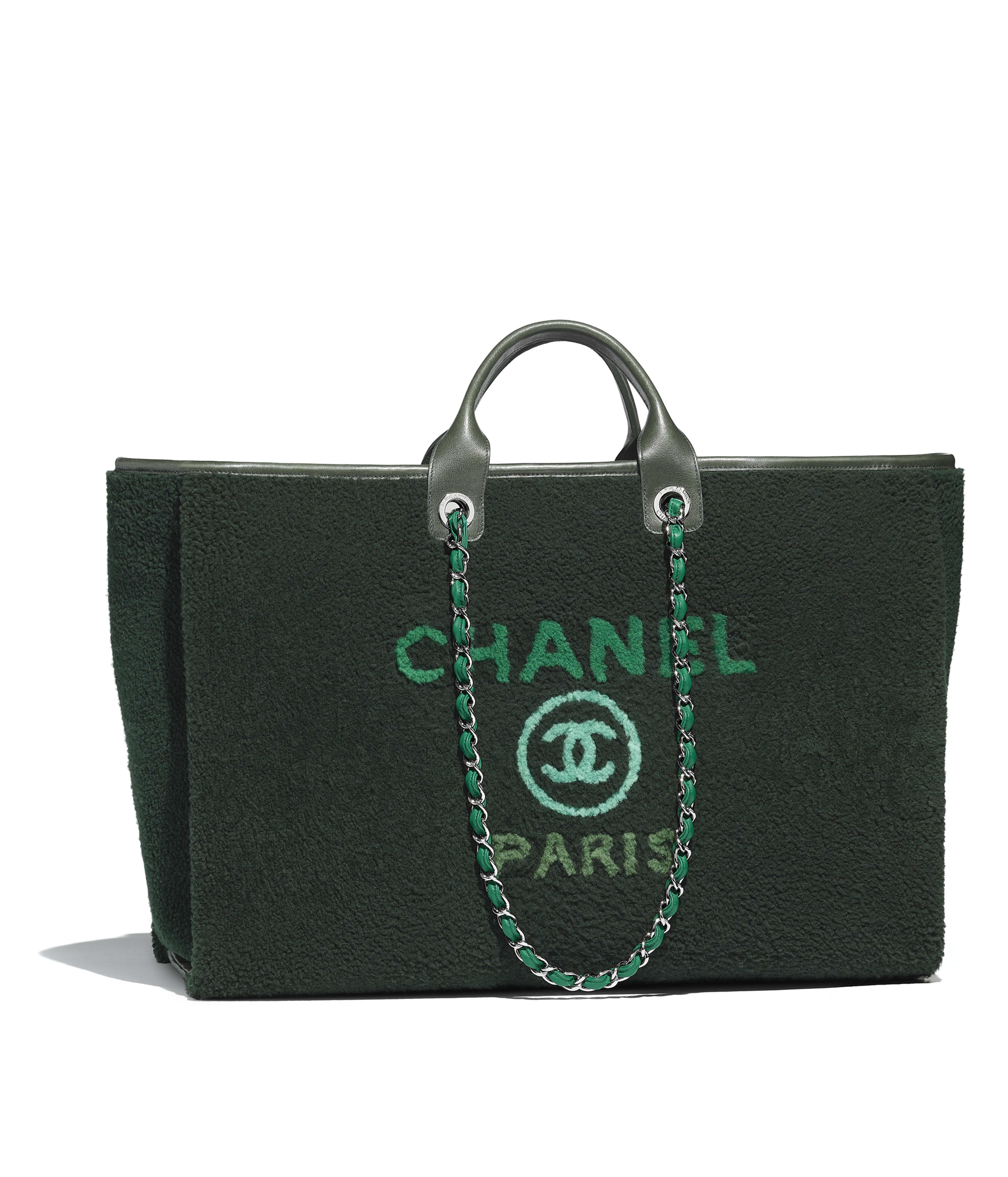 Maxi Ping Bag Shearling Lambskin Calfskin Silver Tone Metal Green Ref A66942y839815b572