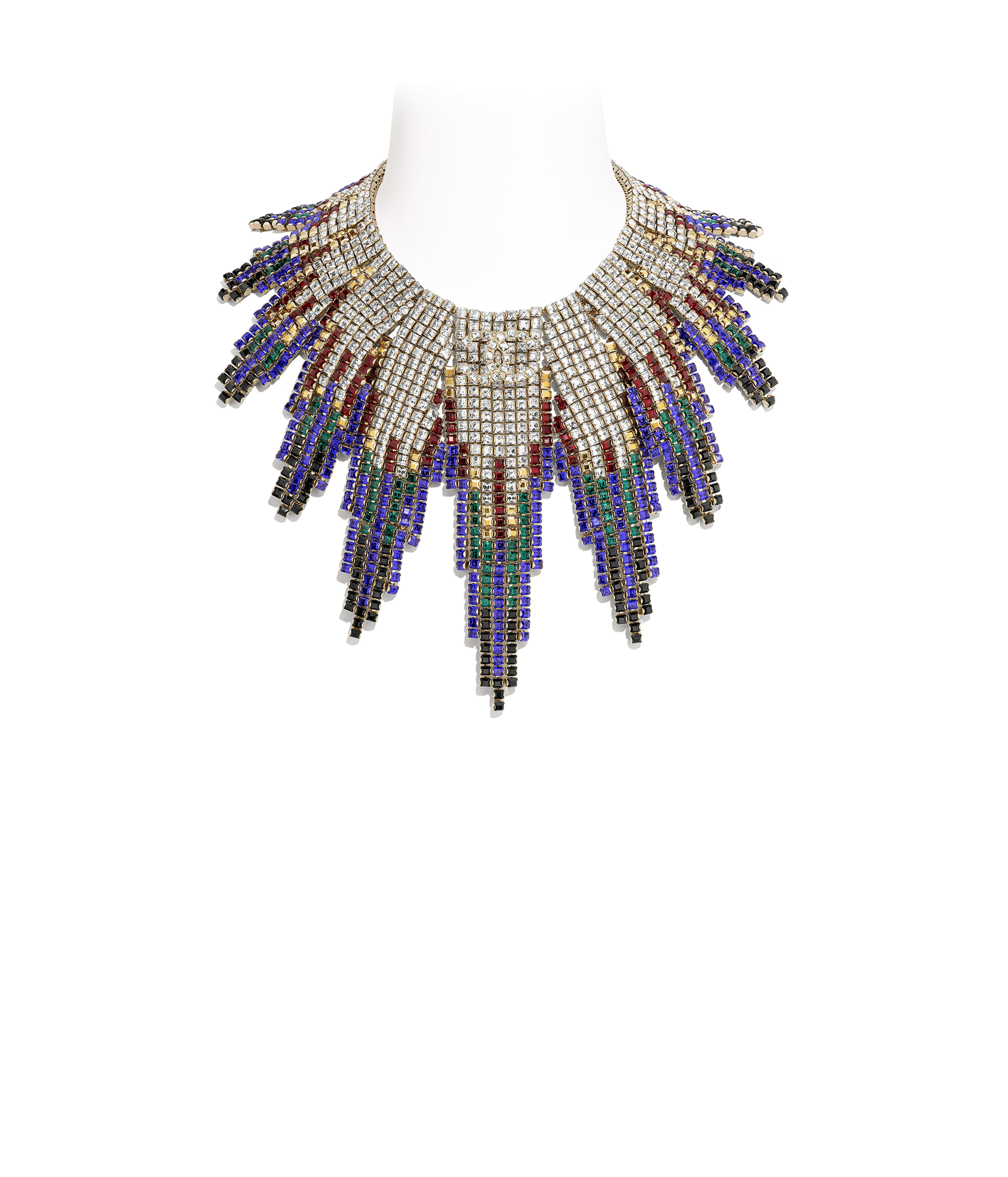 4c6a79ee2 Necklace Metal & Strass, Gold, Black, Red, Blue & Crystal Ref.  AB1634Y02003Z9145