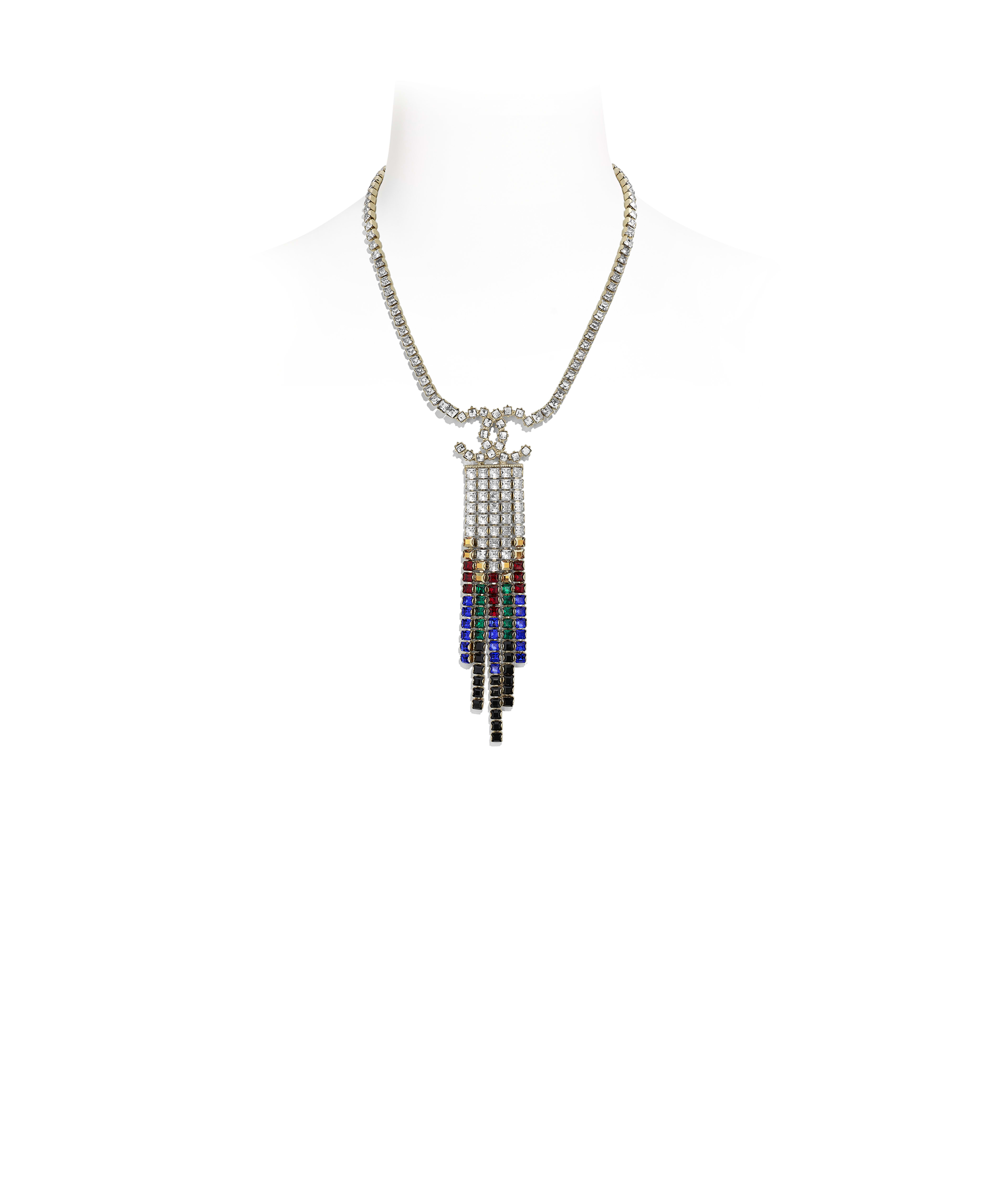 44614a454 Necklace Metal & Strass, Gold, Black, Red, Blue & Crystal Ref.  AB2030Y02003Z9145