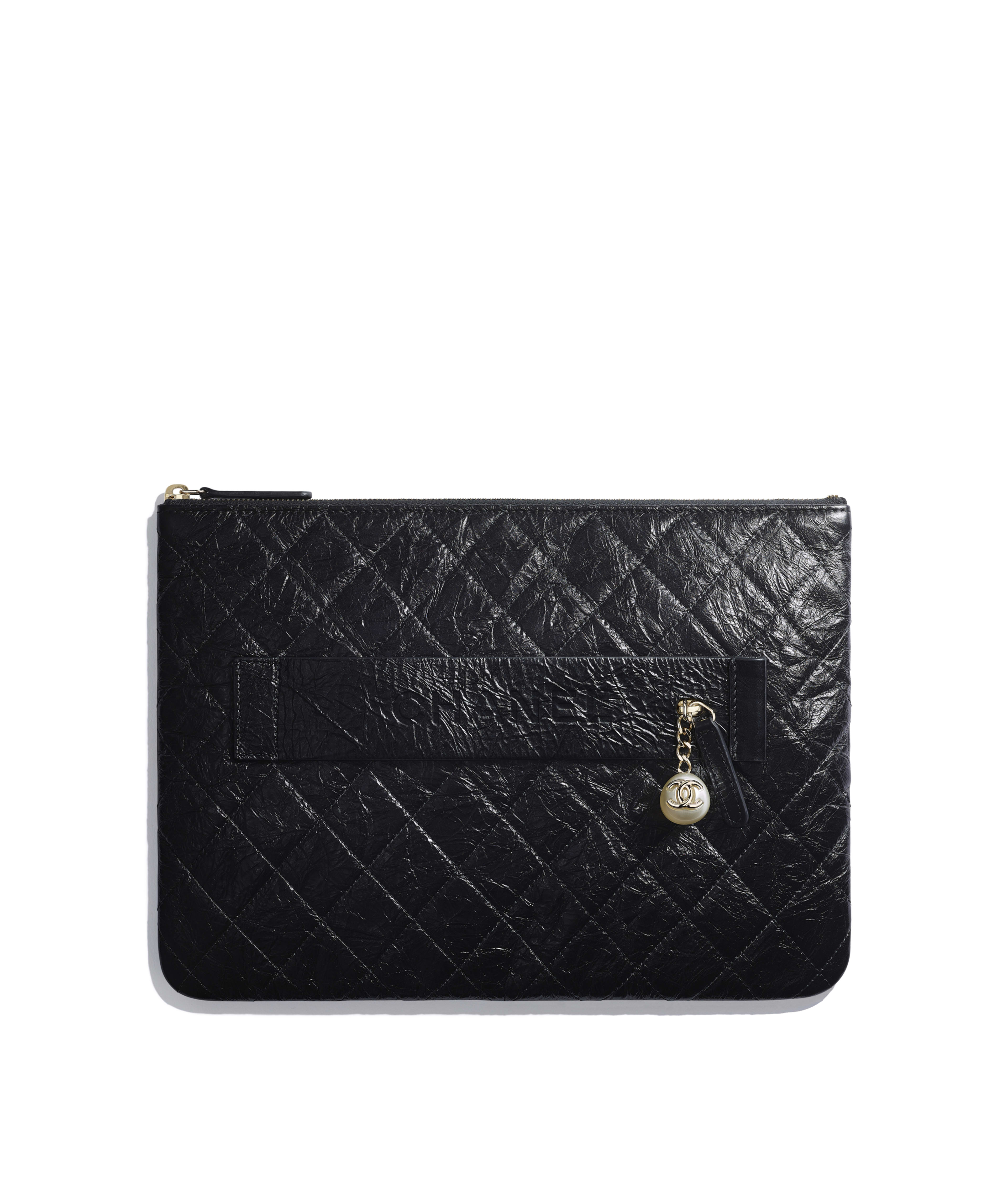 e84b44bfaeec4f Pouches Small Leather Goods Chanel. Chanel Makeup Bag Cosmetics Porch Lady  S Black Caviar Skin
