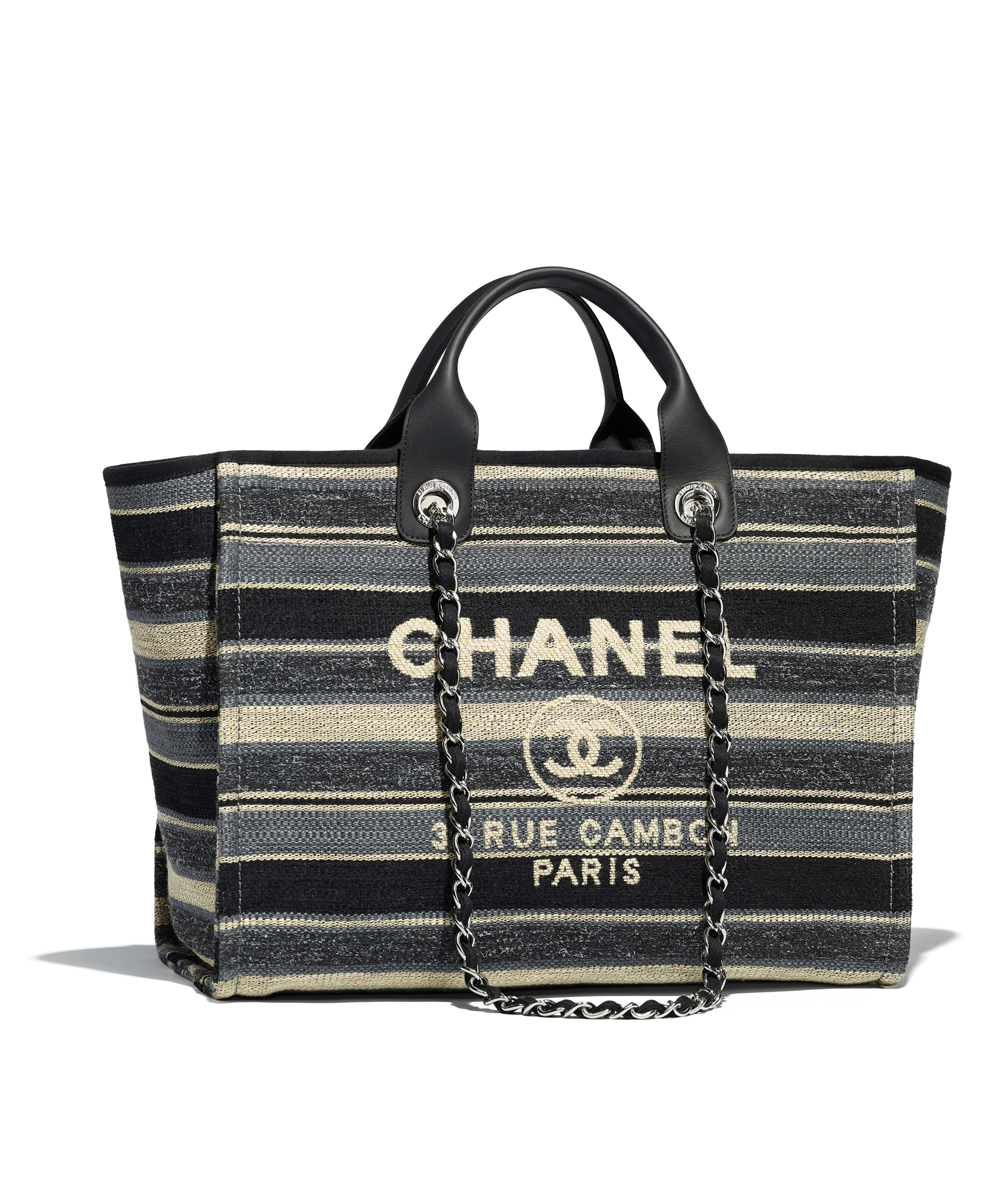 bc3da98bfb5 ... X black here mark chain shoulder bag chain Thoth straw raffia A67001  Y60295 2B180  22 DEAUVILLE MM SHOPPING … Chanel small shopping bag