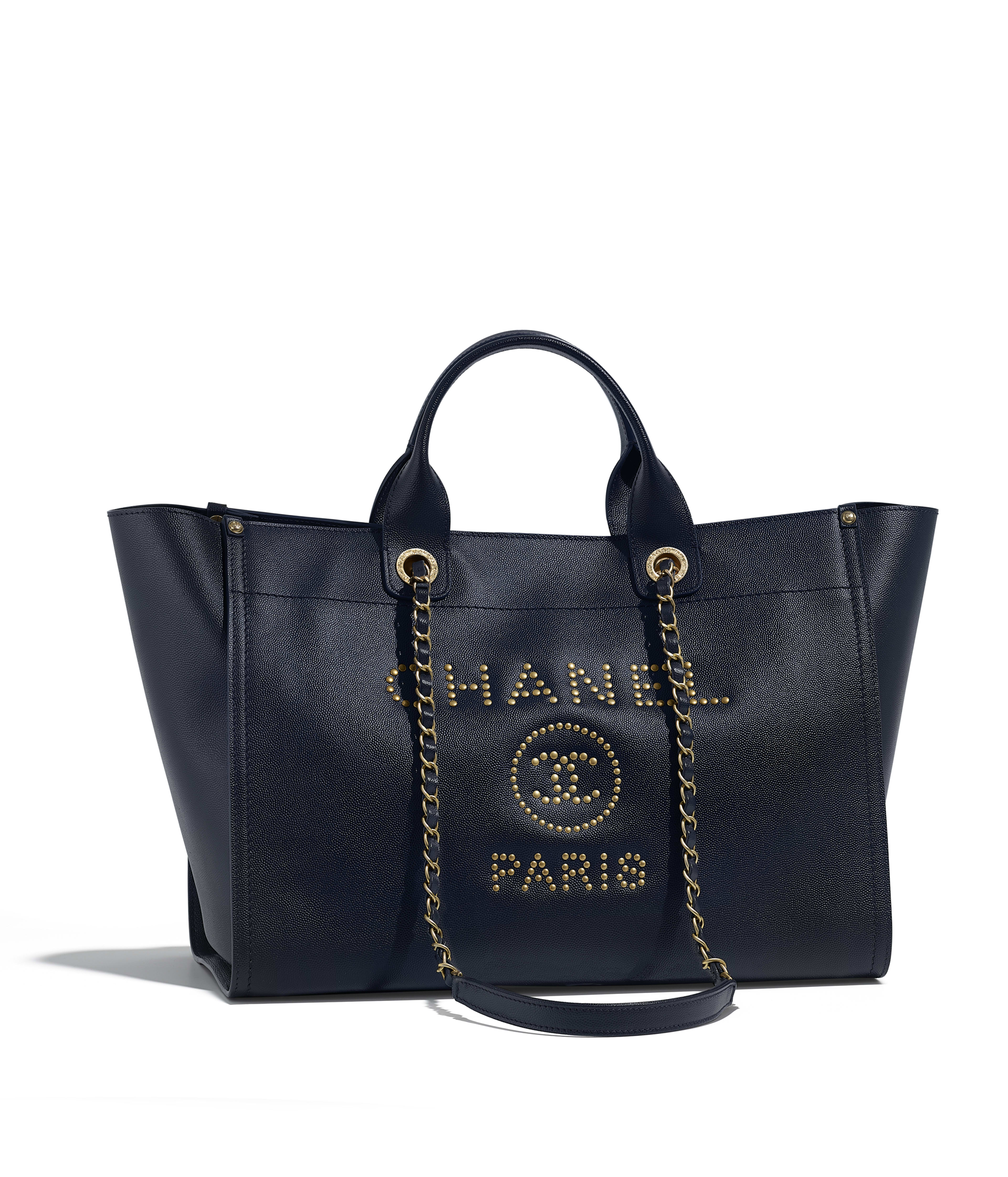 Ping Bag Grained Calfskin Gold Tone Metal Navy Blue Ref A57067y840465b621