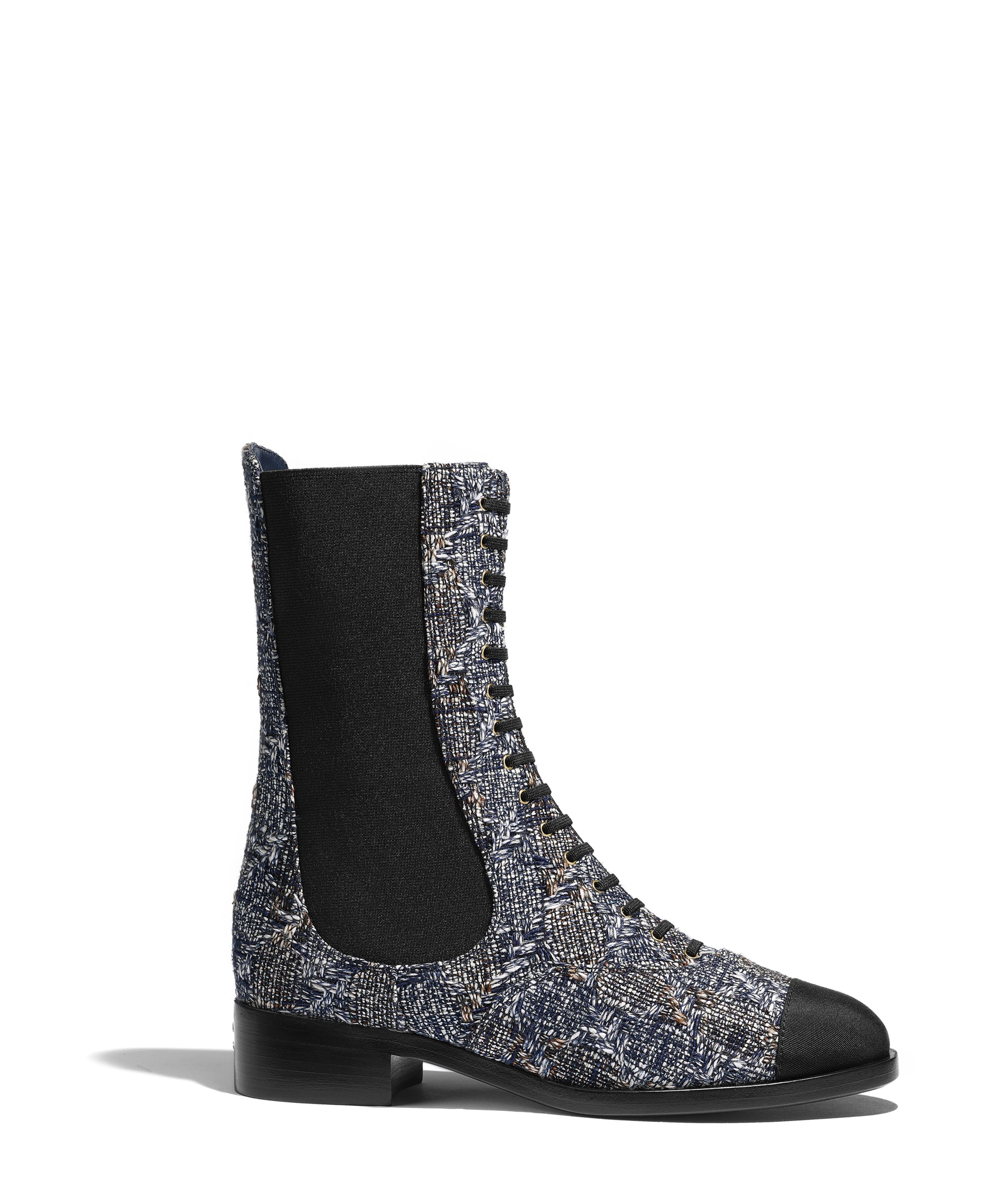 8bd8e80a230d Short Boots Tweed & Grosgrain, Gray, White & Black Ref. G34242Y52364K1238
